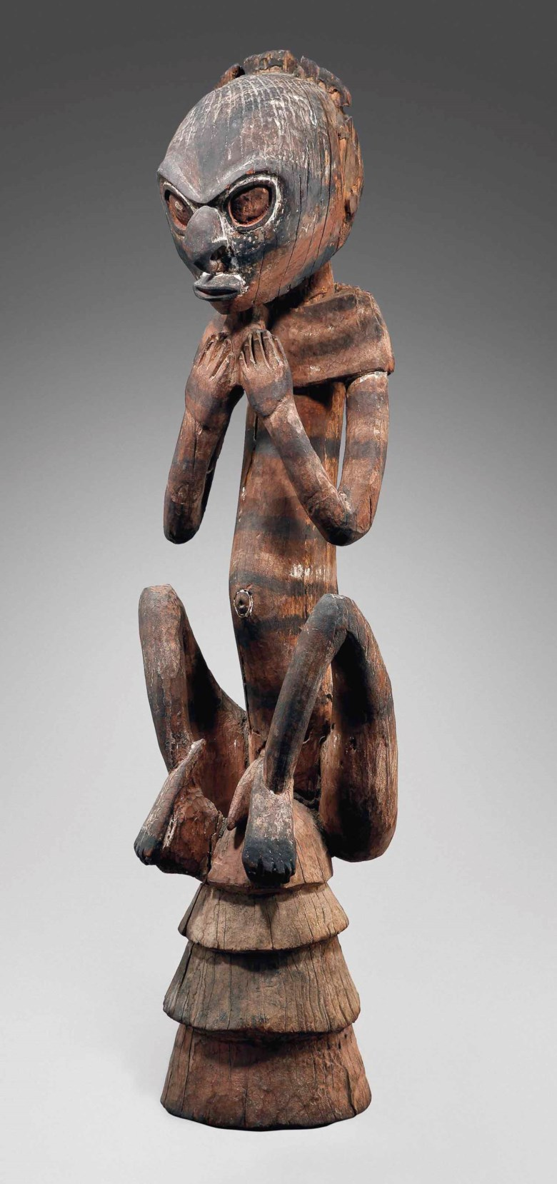 A ceremonial roof figure, Middle Sepik, Yuat river, Papua New Guinea, 1600-1890. Height 41¾ in (106 cm). Sold for €2,505,500 on 19 June 2013 at Christie's in Paris