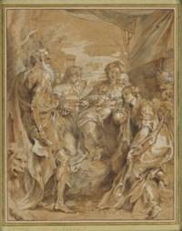 La Vierge à l'Enfant avec deux anges, Sainte Catherine et Saint Jérôme, d'après Correggio
