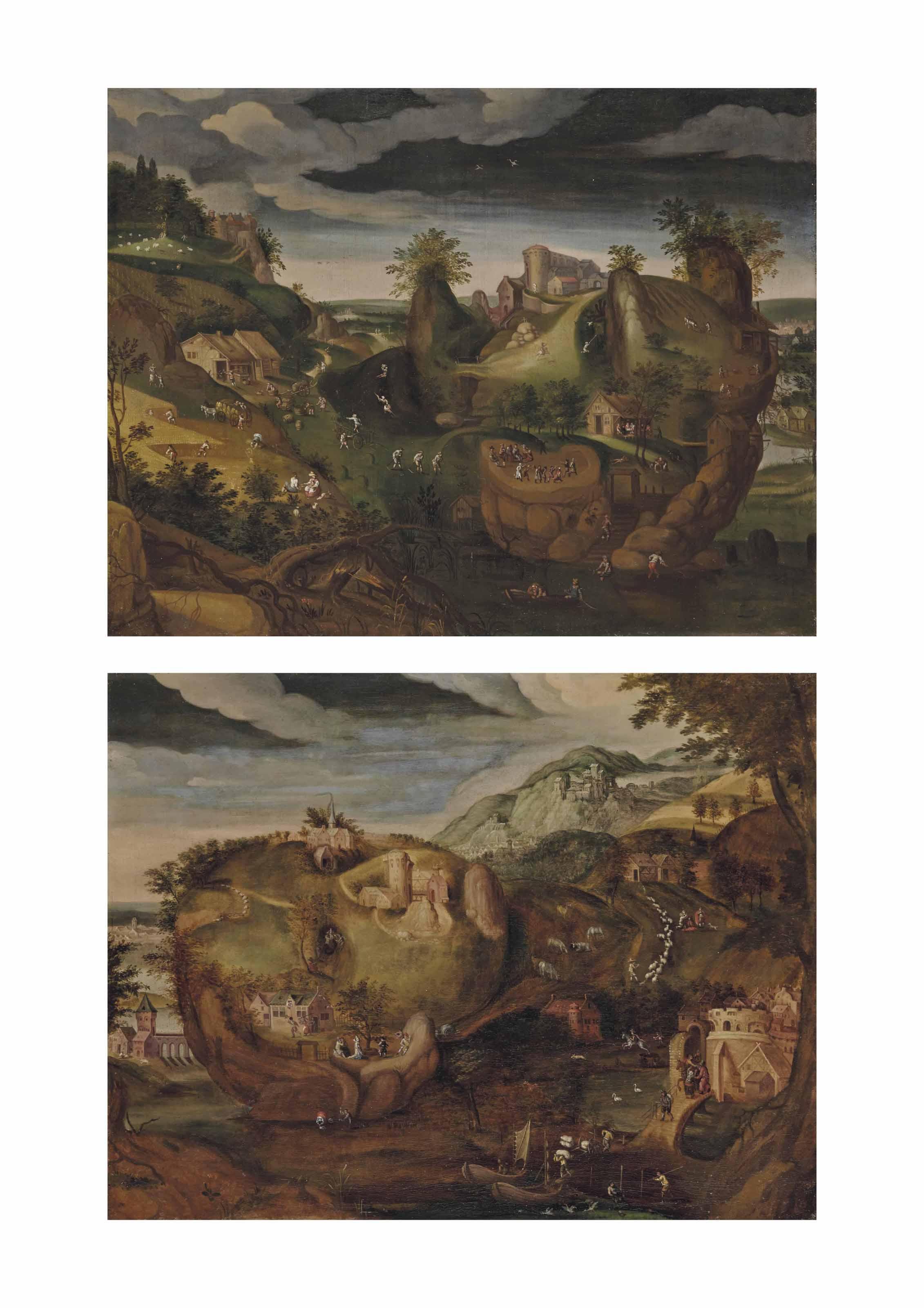 Paysages anthropomorphes, portraits de femme et d'homme
