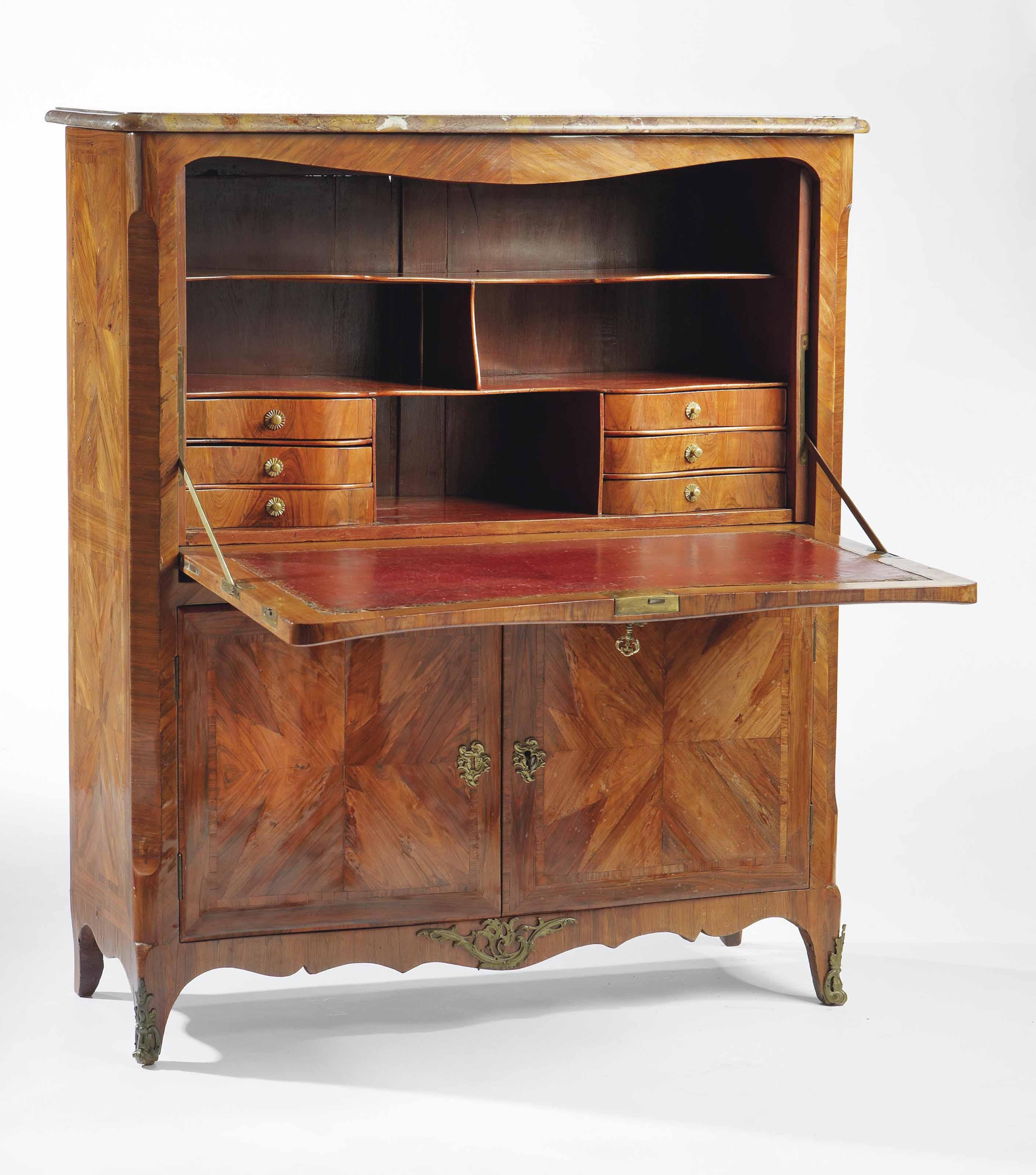 secretaire a abattant d 39 epoque louis xv milieu du xviiieme siecle christie 39 s. Black Bedroom Furniture Sets. Home Design Ideas