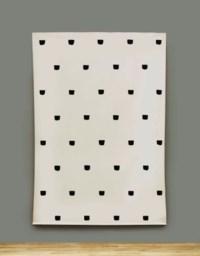 Empreintes de pinceau no 50 répétées à intervalles régulieres (30cm)