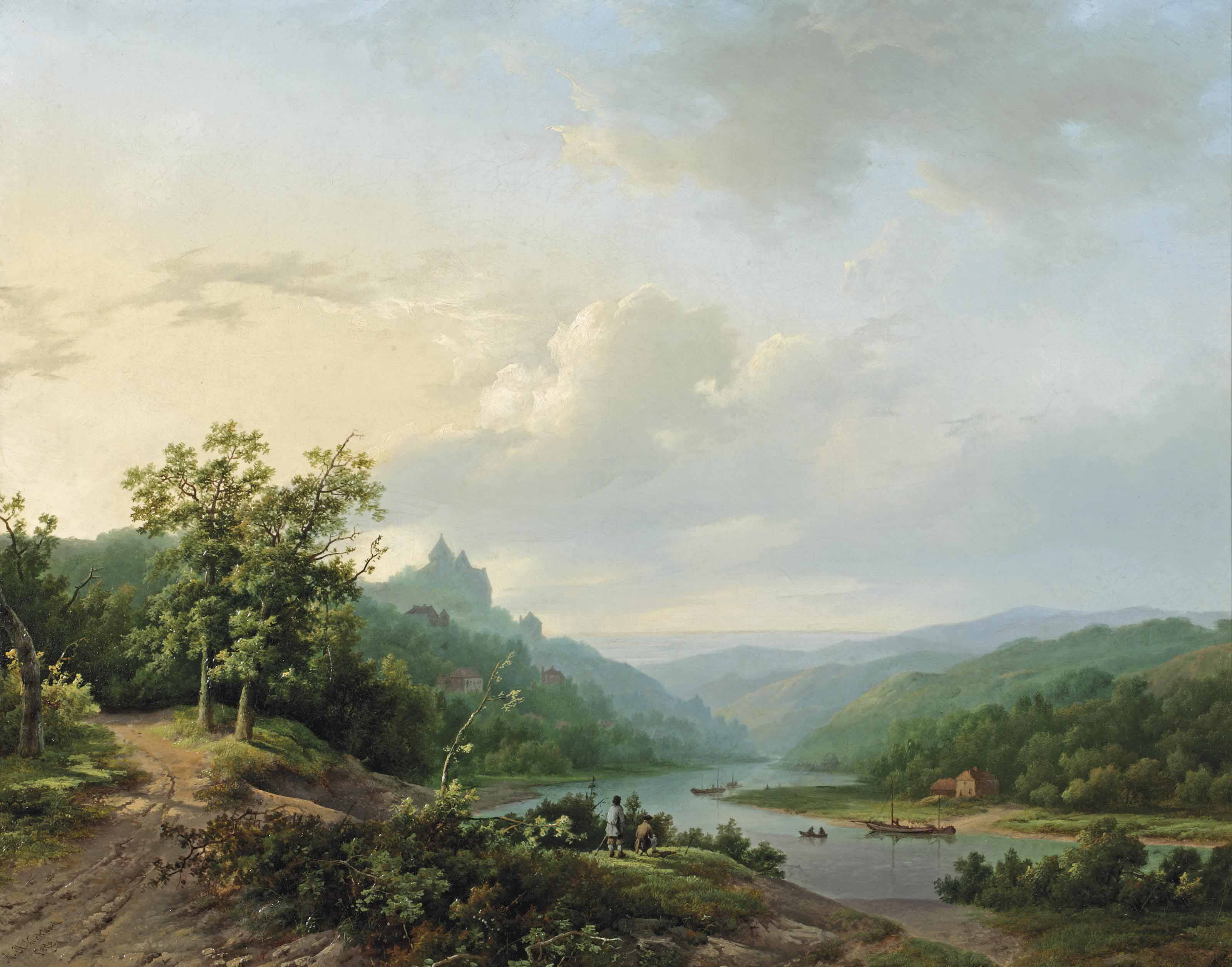 A view of the Rhein river near Cleves