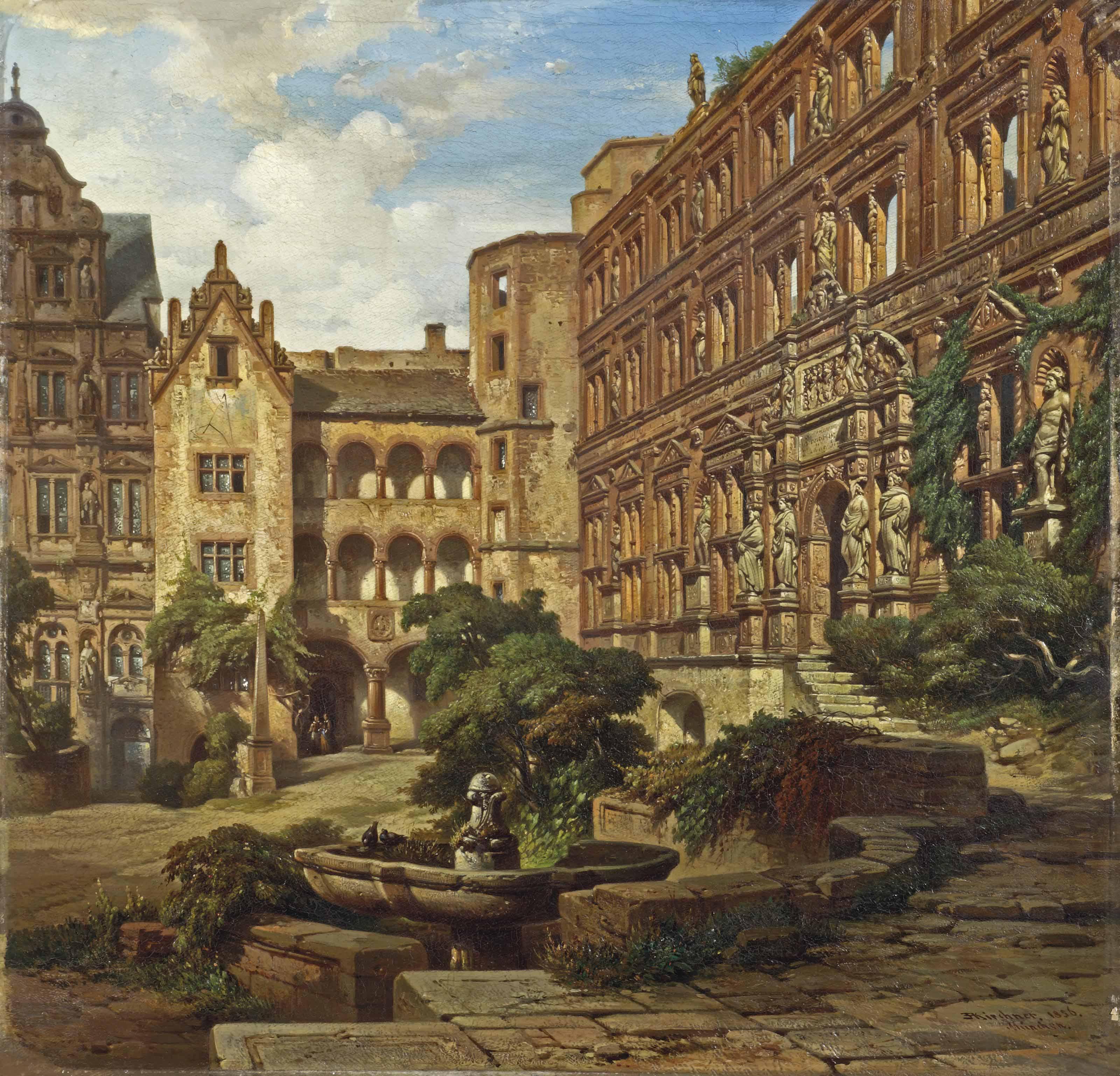 Heidelberg Castle, Ottheinrich Wing, Munich