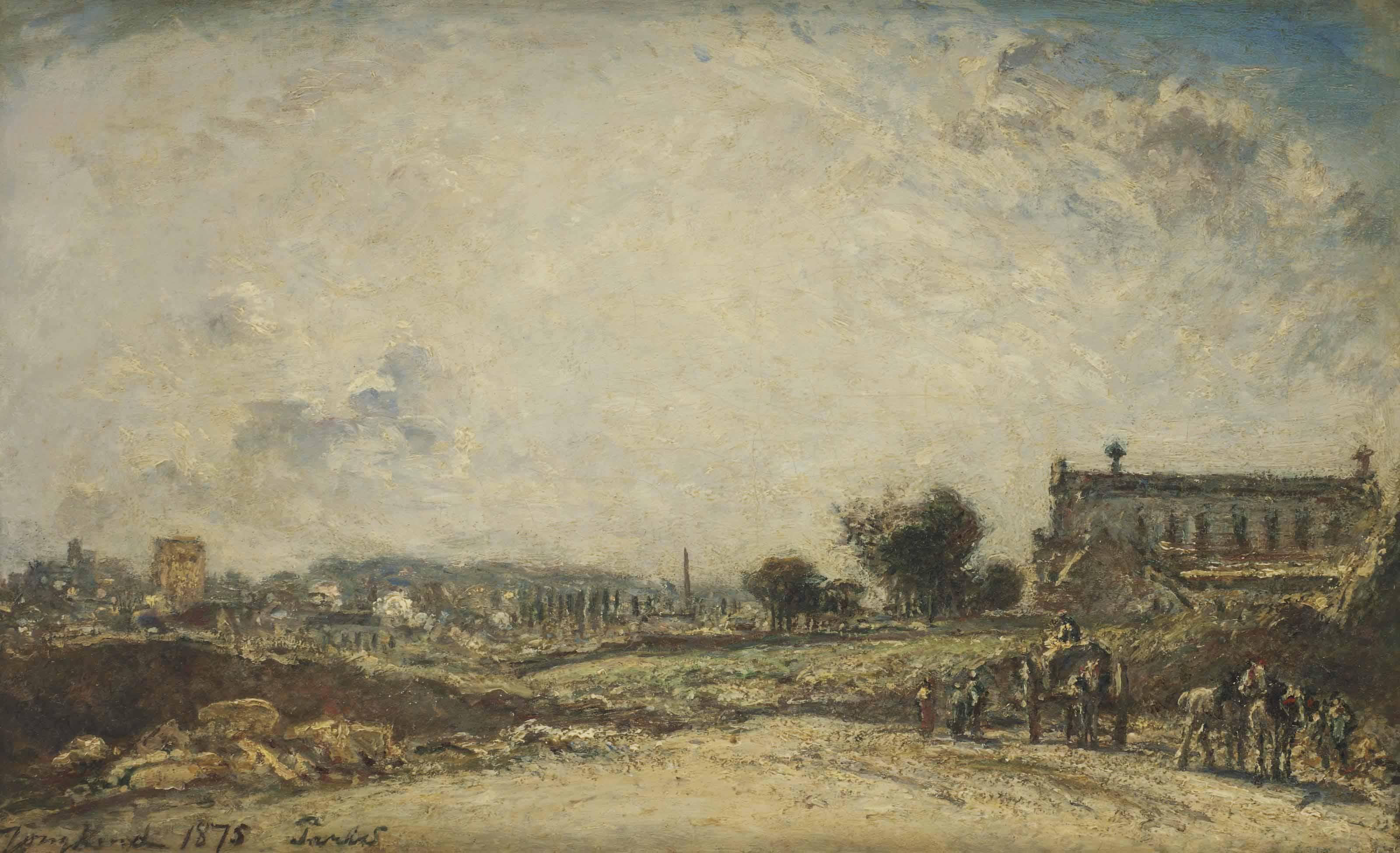 Johan barthold jongkind lattrop 1819 1891 la c te saint andr percement du nouveau boulevard - Boulevard du port royal paris ...