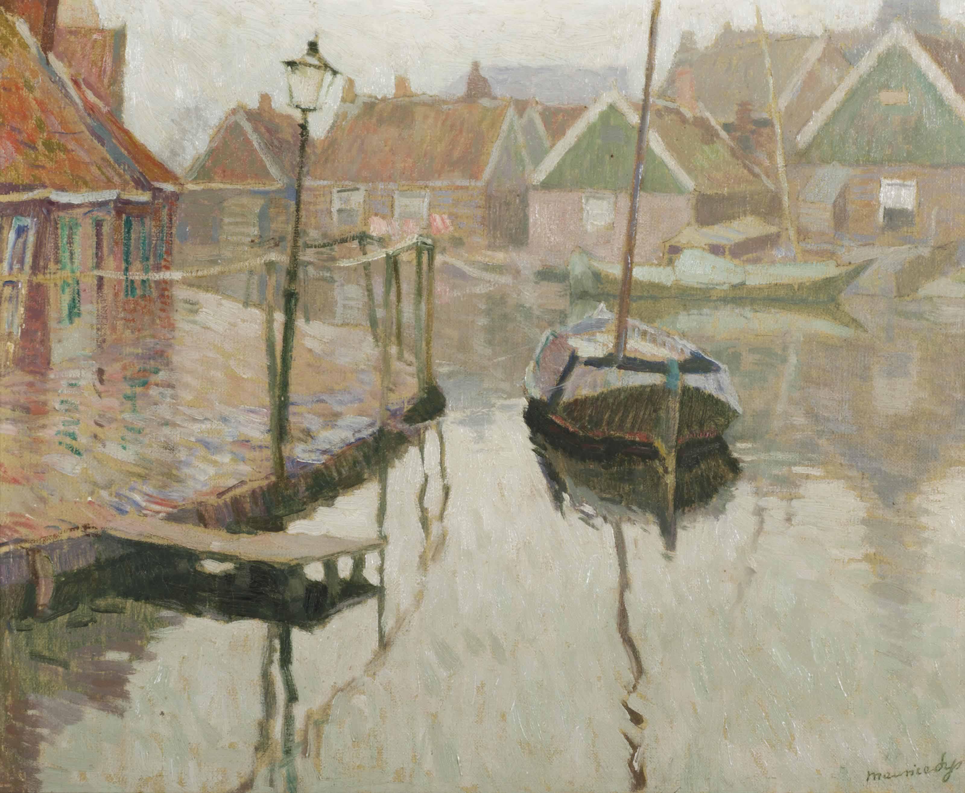The harbour of Volendam