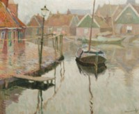 The harbour of Volendam