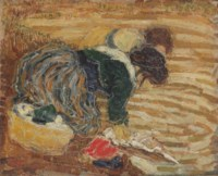 Two women doing the laundry