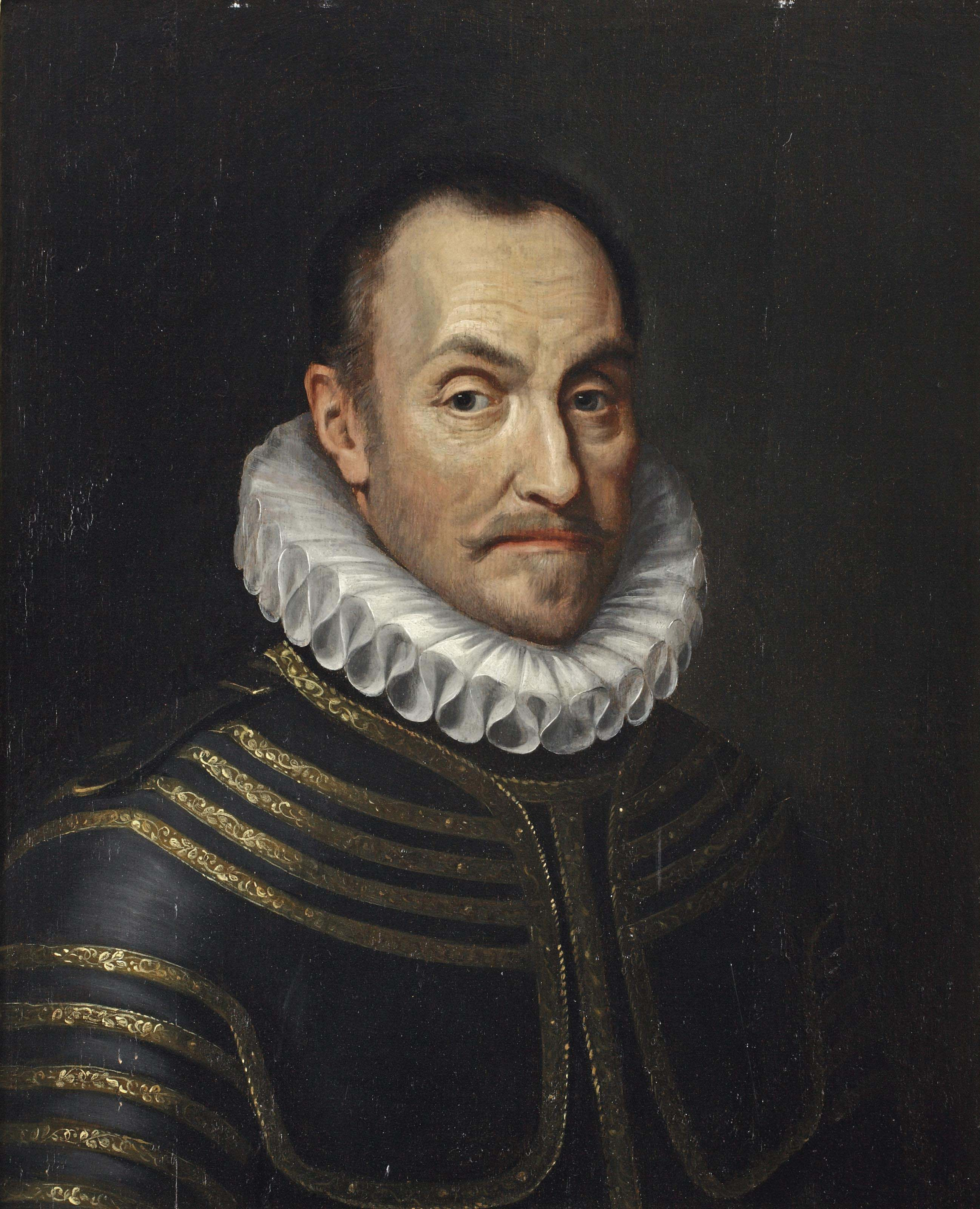 Portrait of Willem I 'De Zwijger' of Orange-Nassau, bust-length, in armour and with a ruff