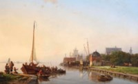 A summer's day on a Dutch river