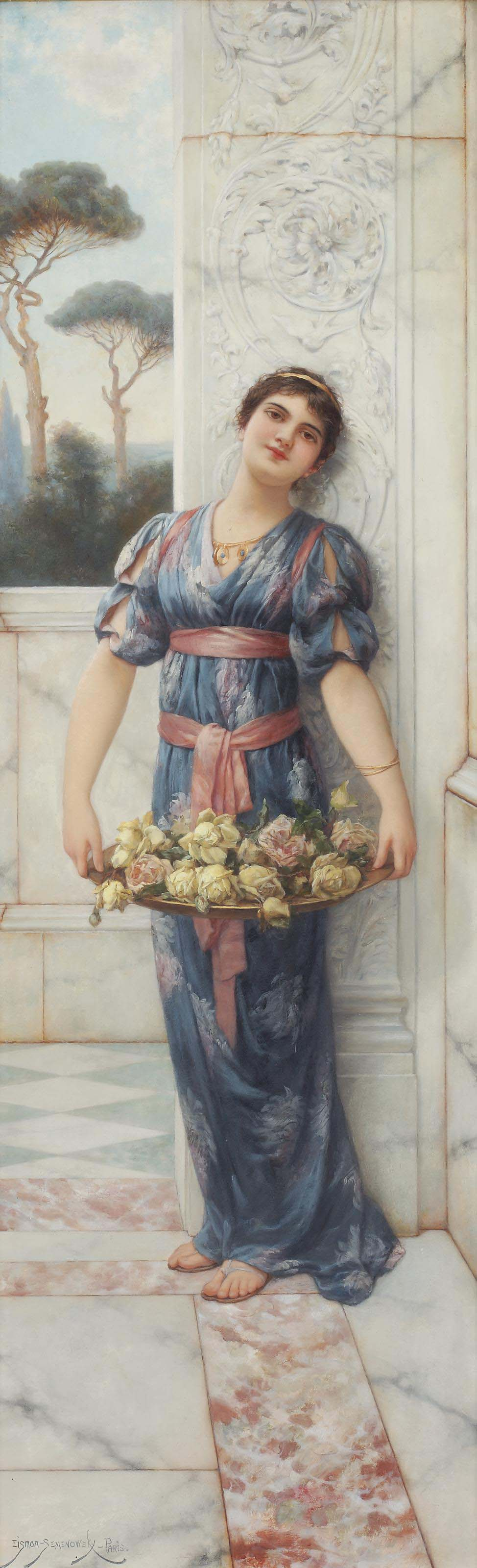 A classical beauty with roses