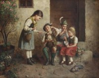The young cherry-seller