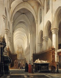 Kerk van Hooghstraeten: the interior of the church of Hoogstraten, Belgium