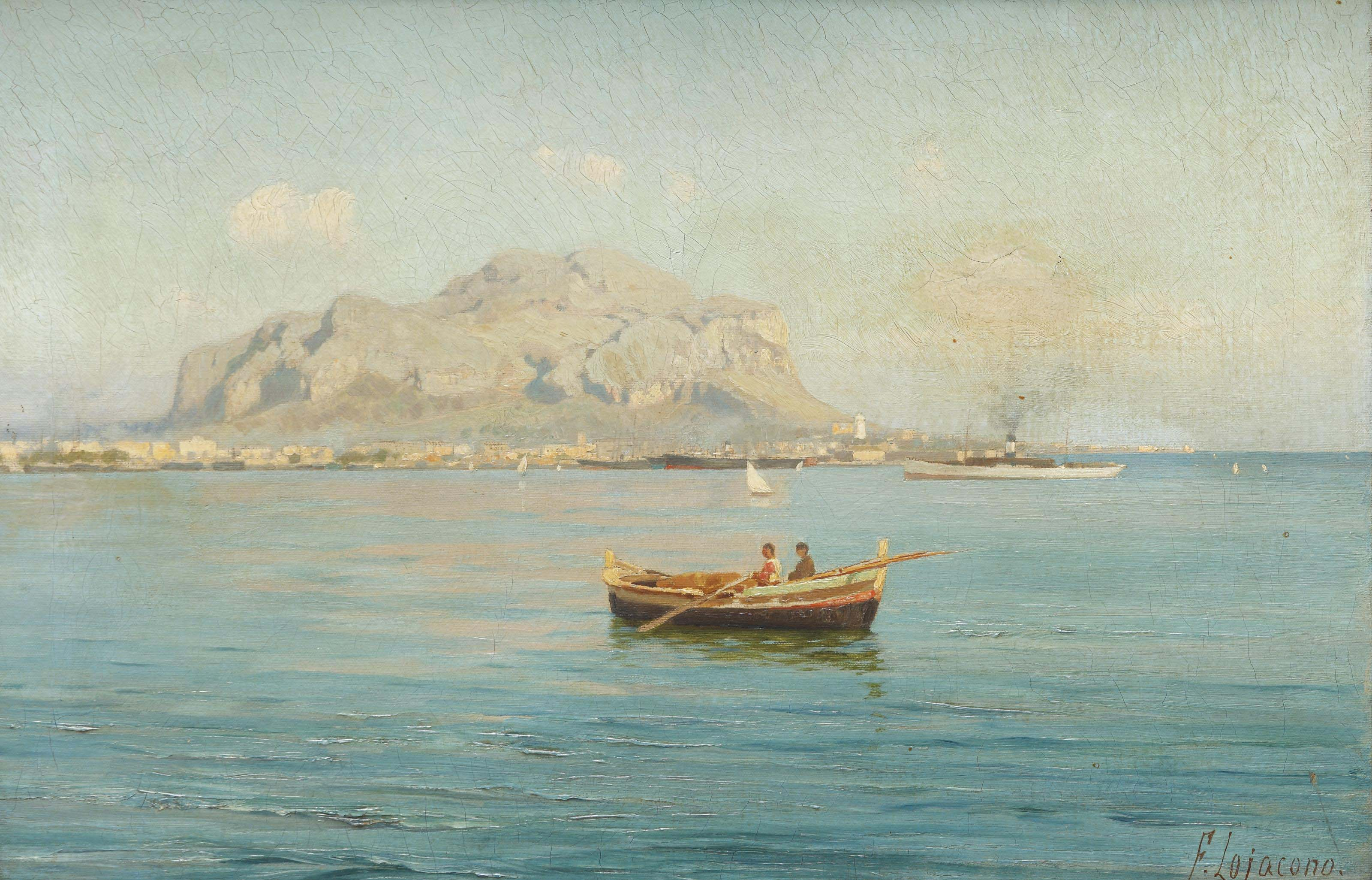 The bay of Palermo, with the Mount Pellegrino in the distance