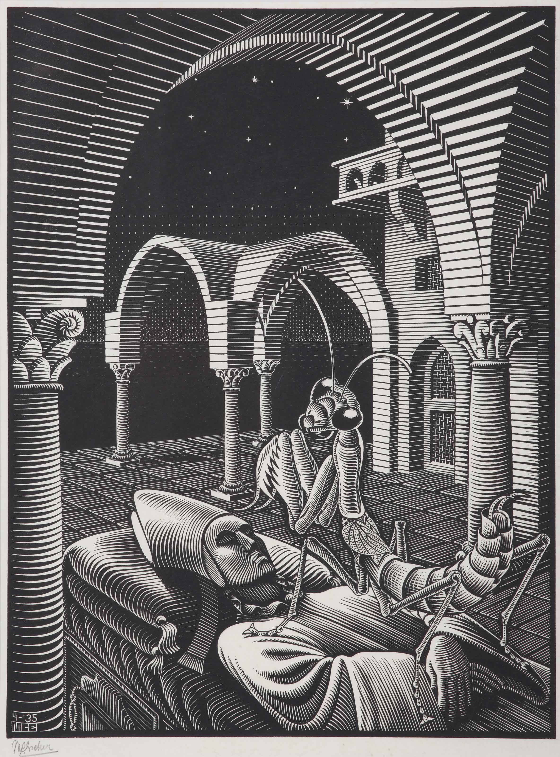 Maurits Cornelis Escher (1898-1972) | Dream (Mantis Religiosa)(B. 272) |  20th Century, Prints & Multiples | Christie's