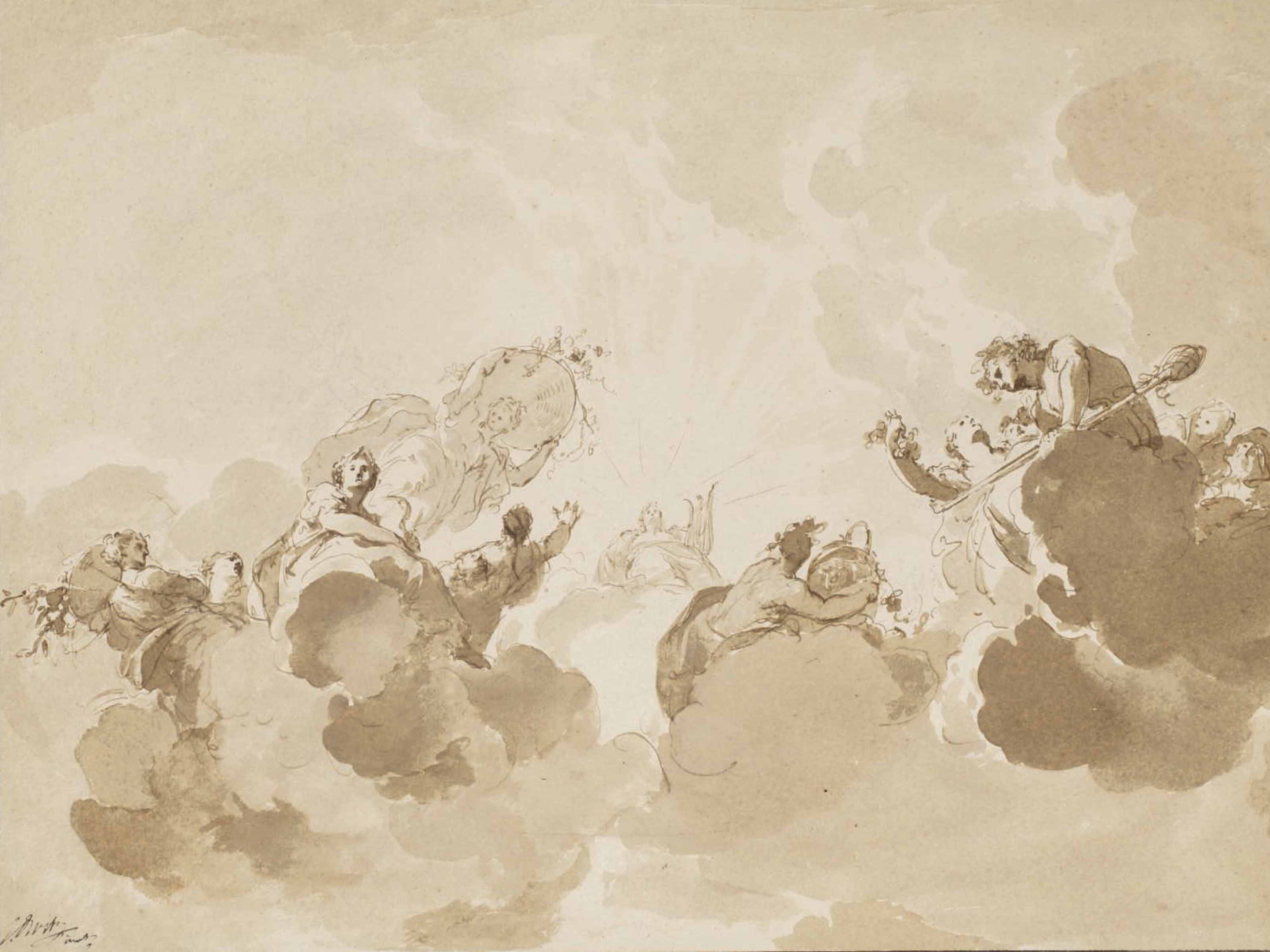 Design for a ceiling painting: Apollo and the Four Seasons