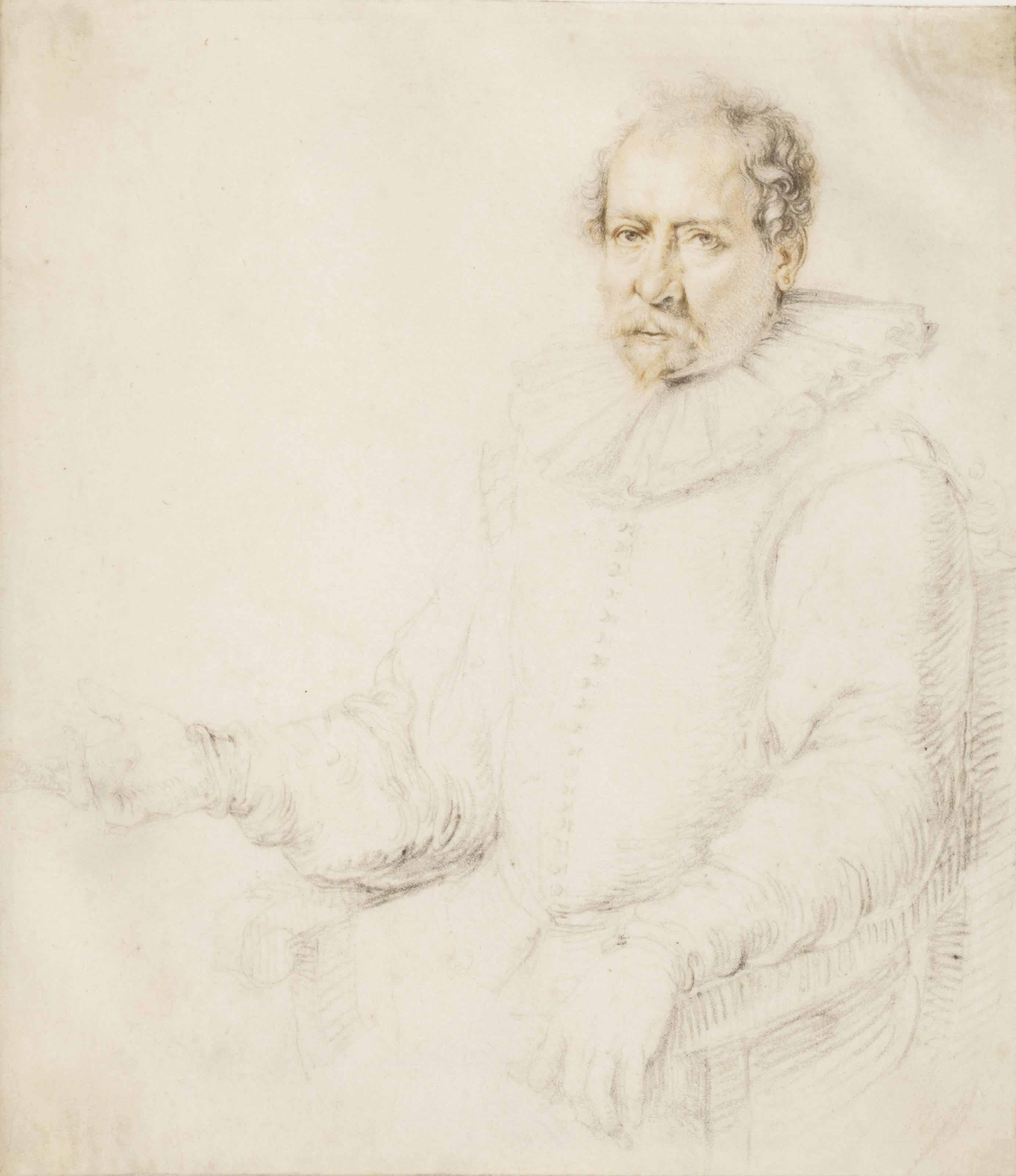Portrait of a seated man in an armchair