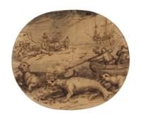 A walrus hunt: a design for the border of the 'Novissima Ac Exactissima Totius Orbis Terrarum'