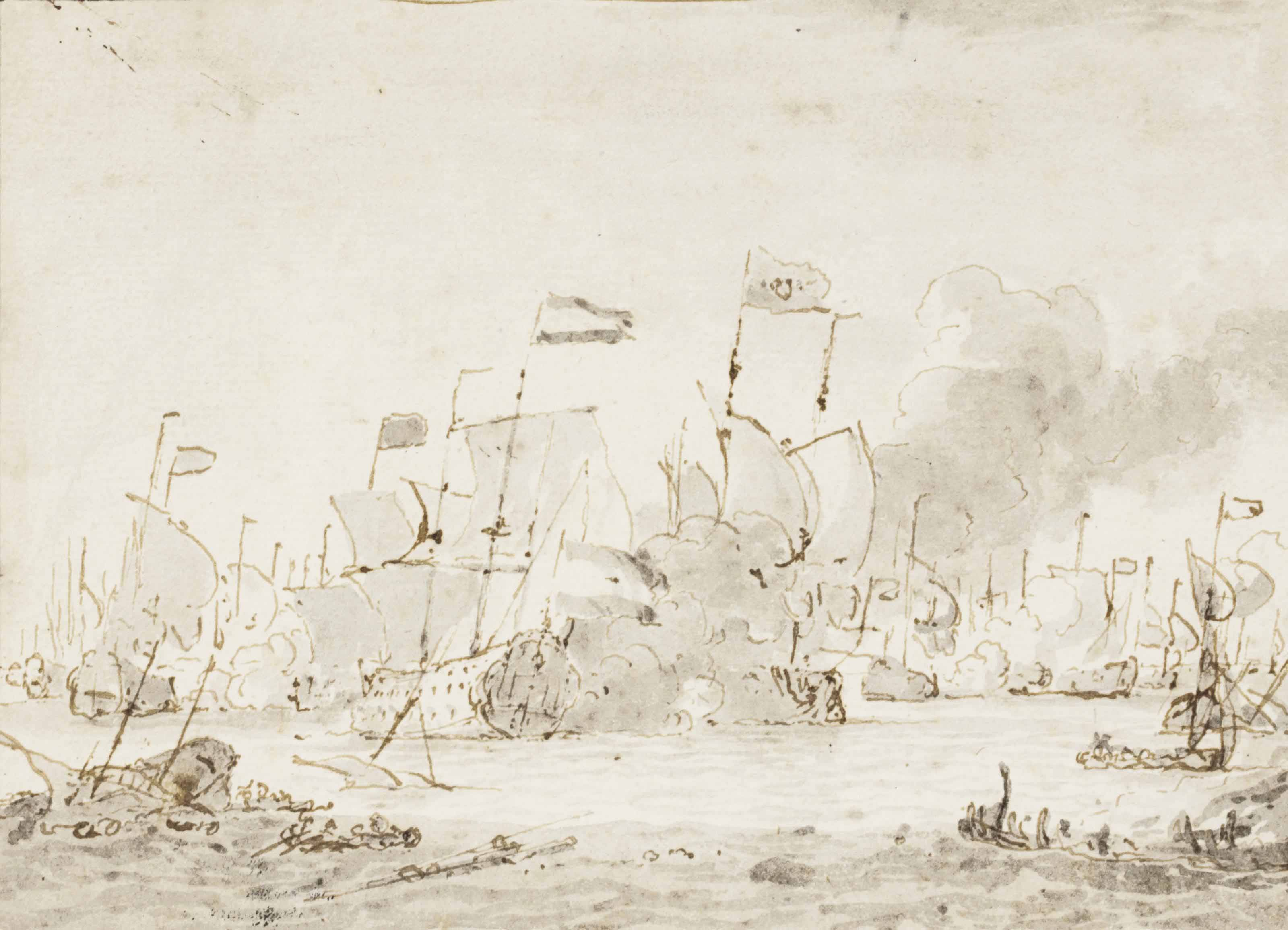 The naval battle of the Texel