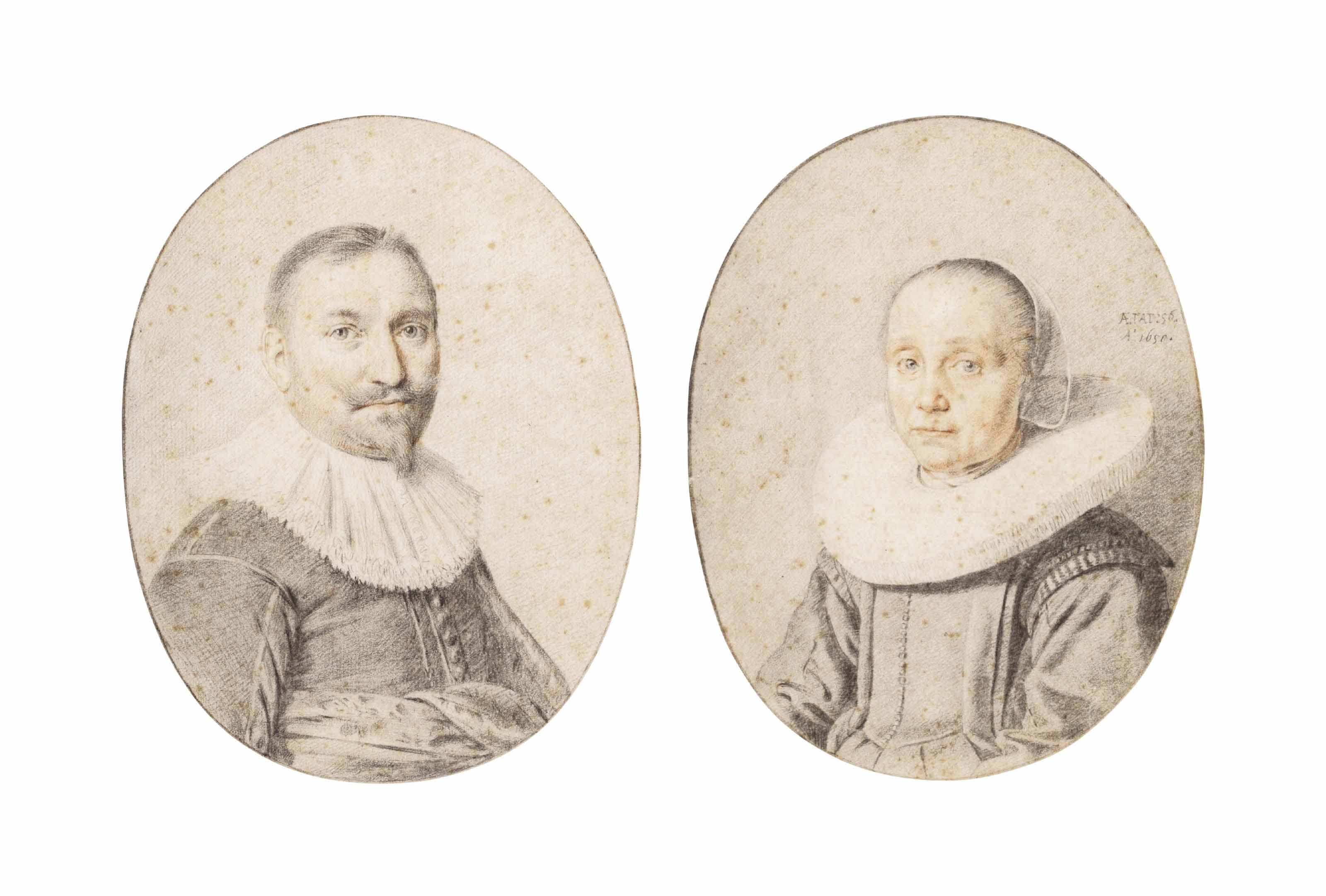 Portraits of a man and a woman