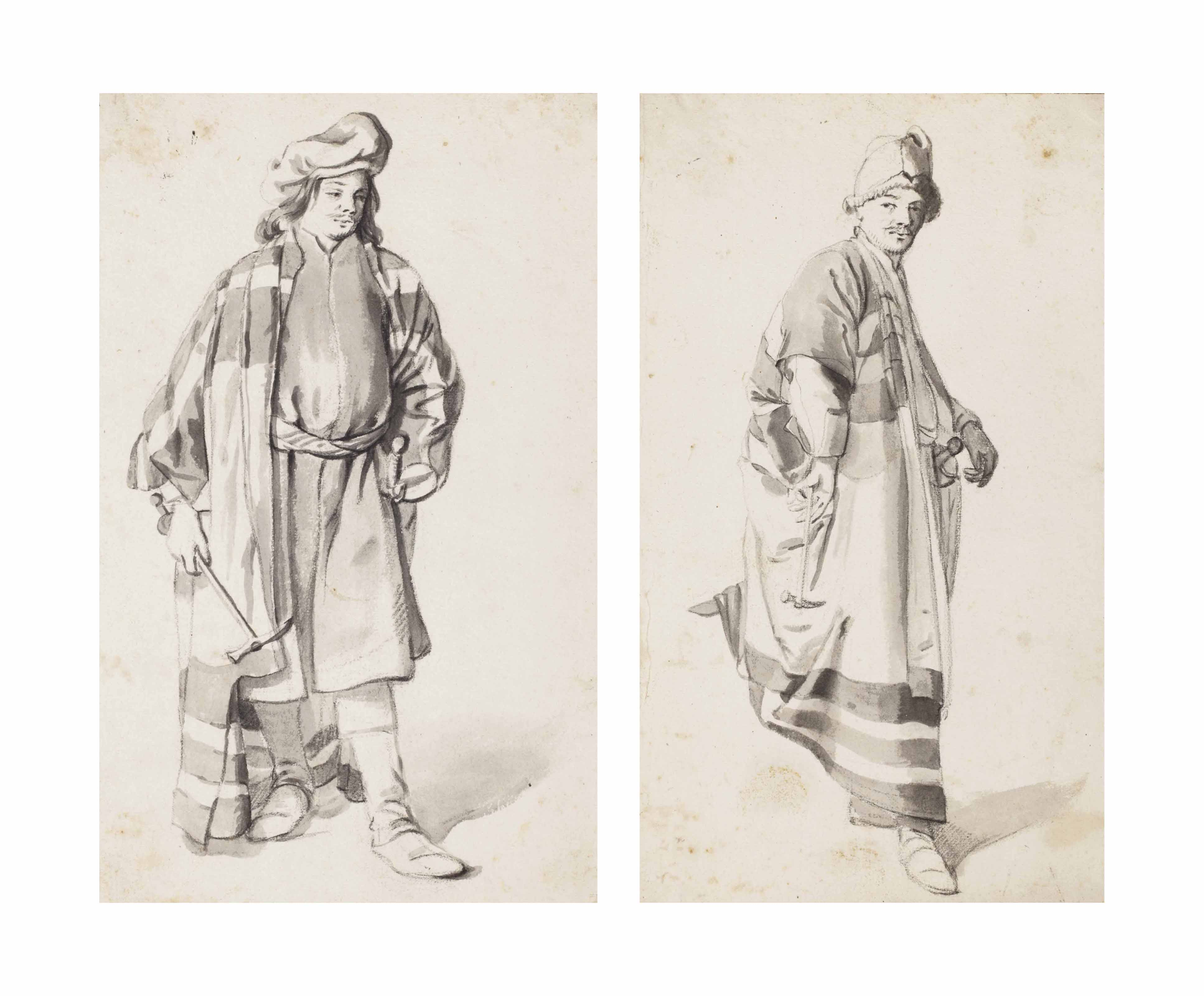 Two studies of men in Oriental costume