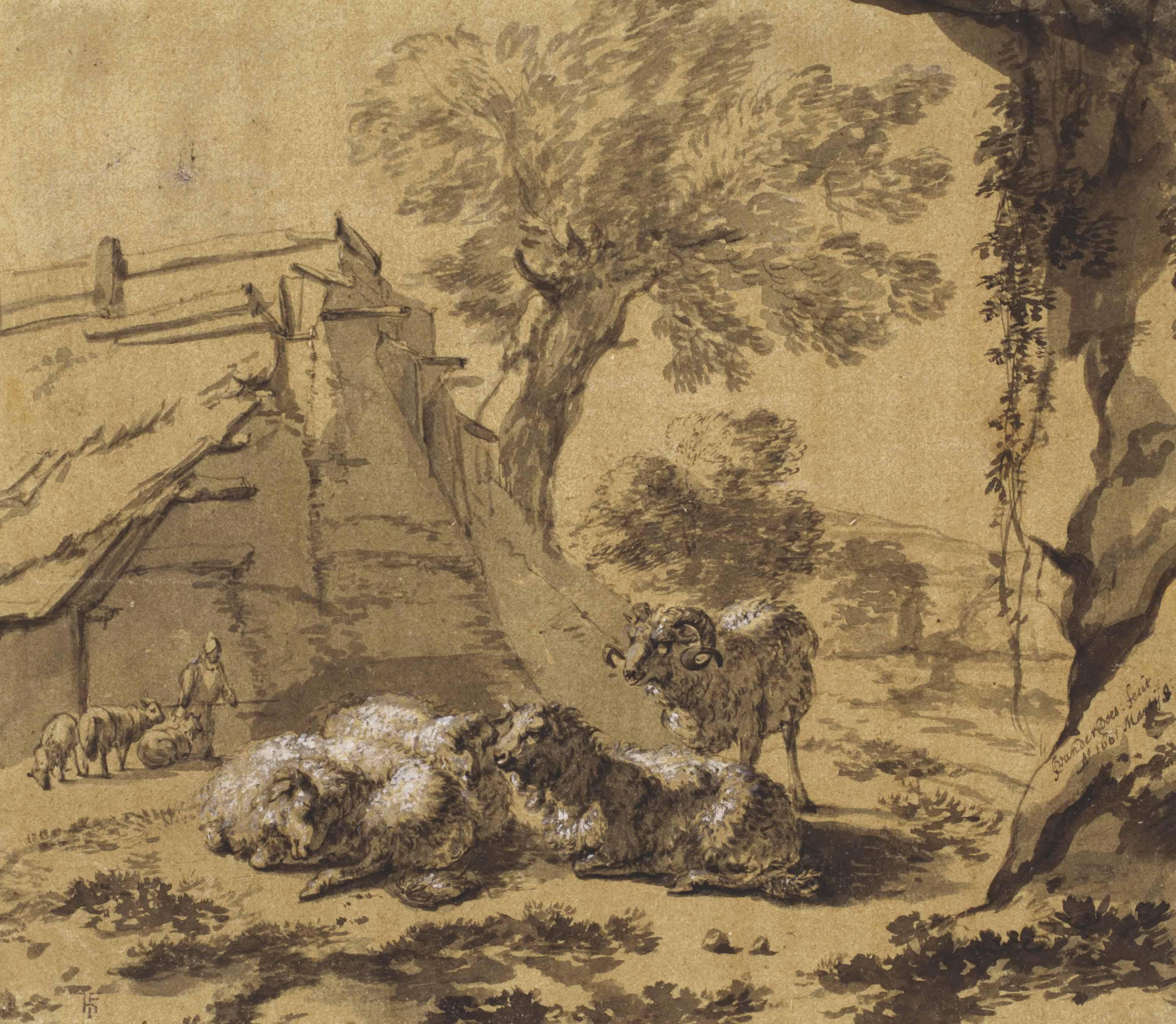 Jacob van der Does (Amsterdam 1623-1673 Sloten)