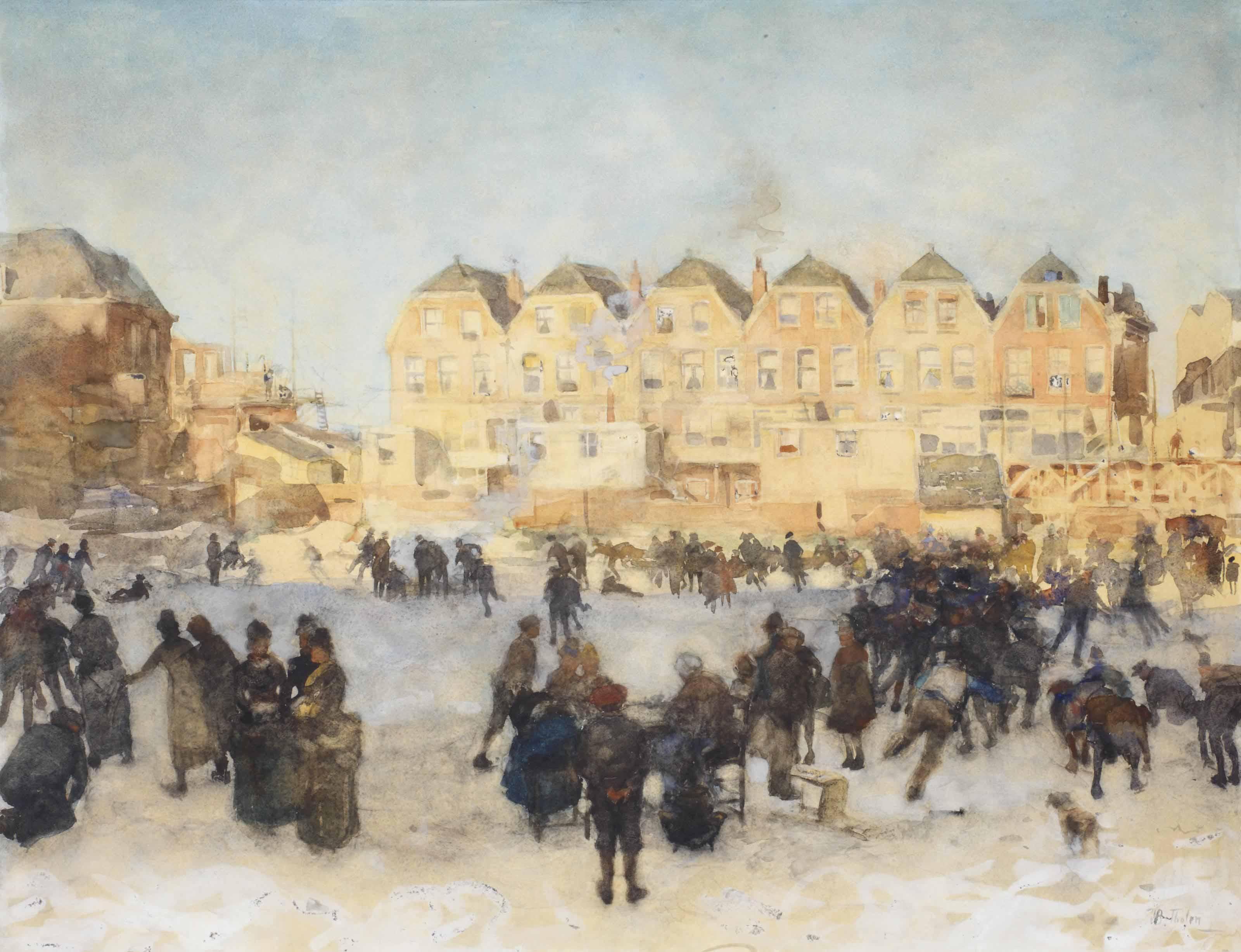 Winterfun on a sunny day, The Hague