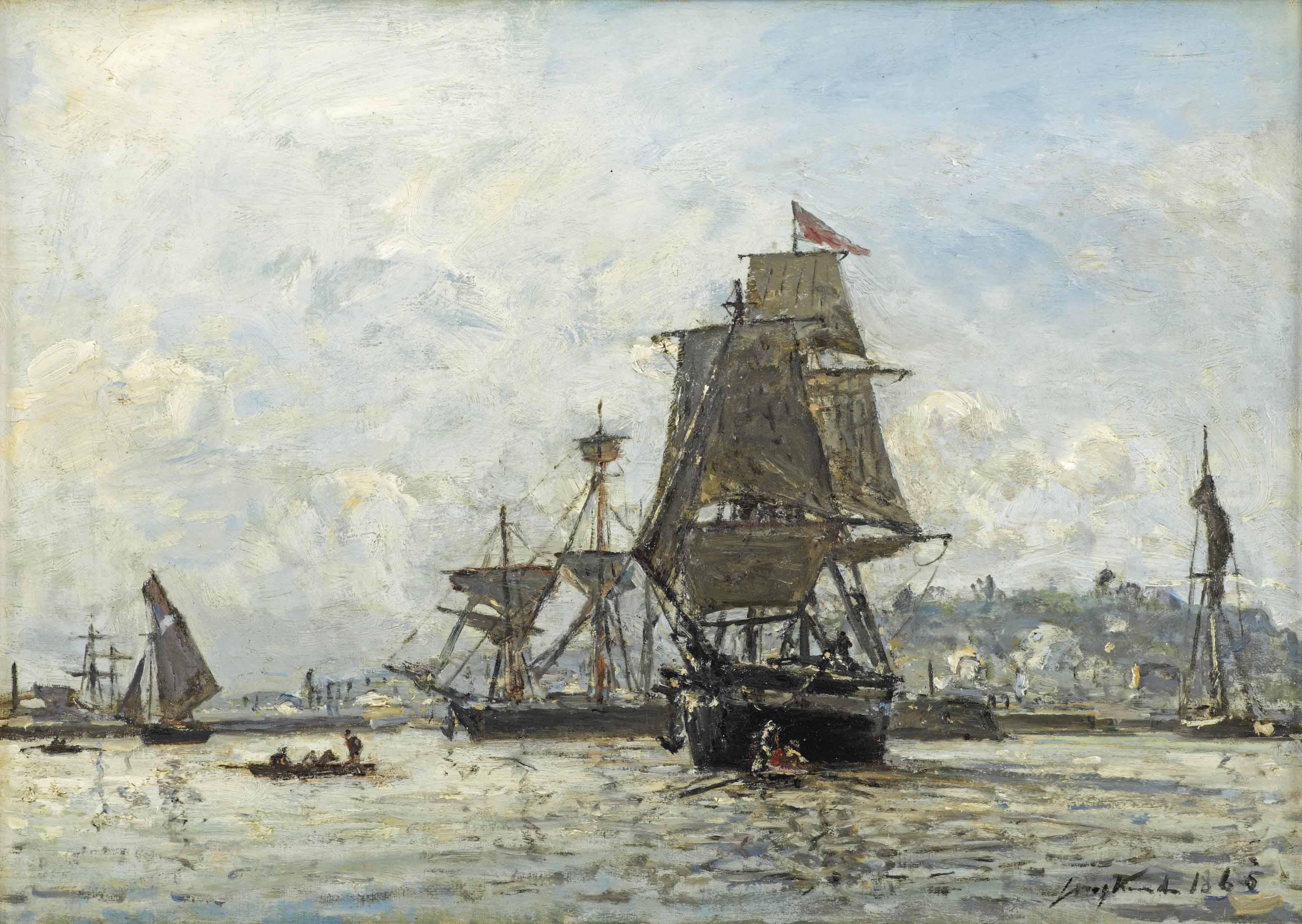 Le port de Honfleur, les grands voiliers