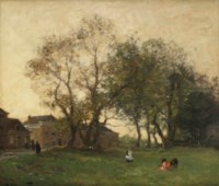 Playing under the old trees, The Hague