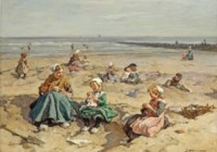 A summer's day at the beach, Scheveningen