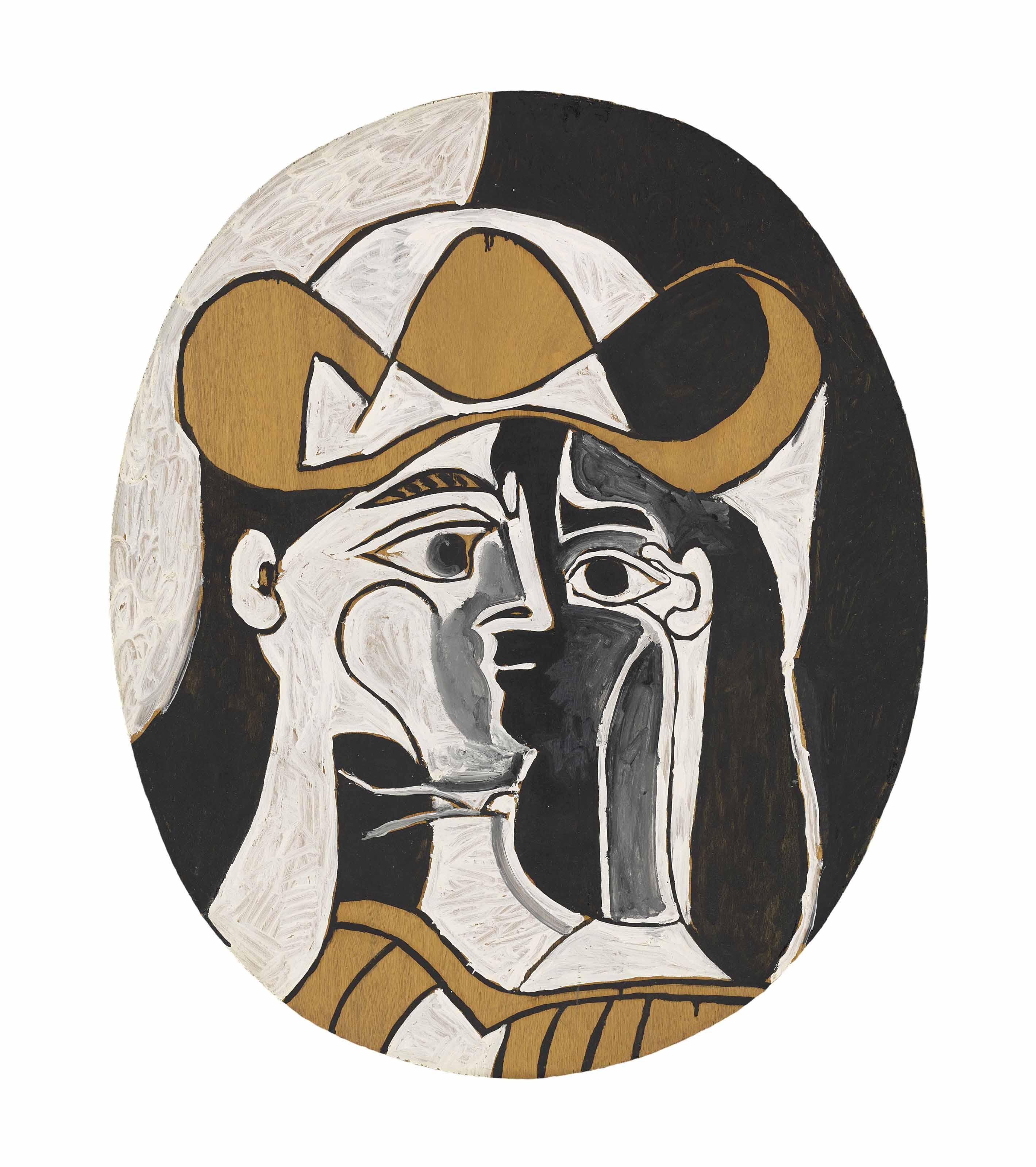 Pablo Picasso (1881-1973)   Femme au chapeau   1960s, Paintings ...