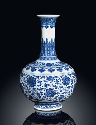 A MING-STYLE  BLUE AND WHITE B