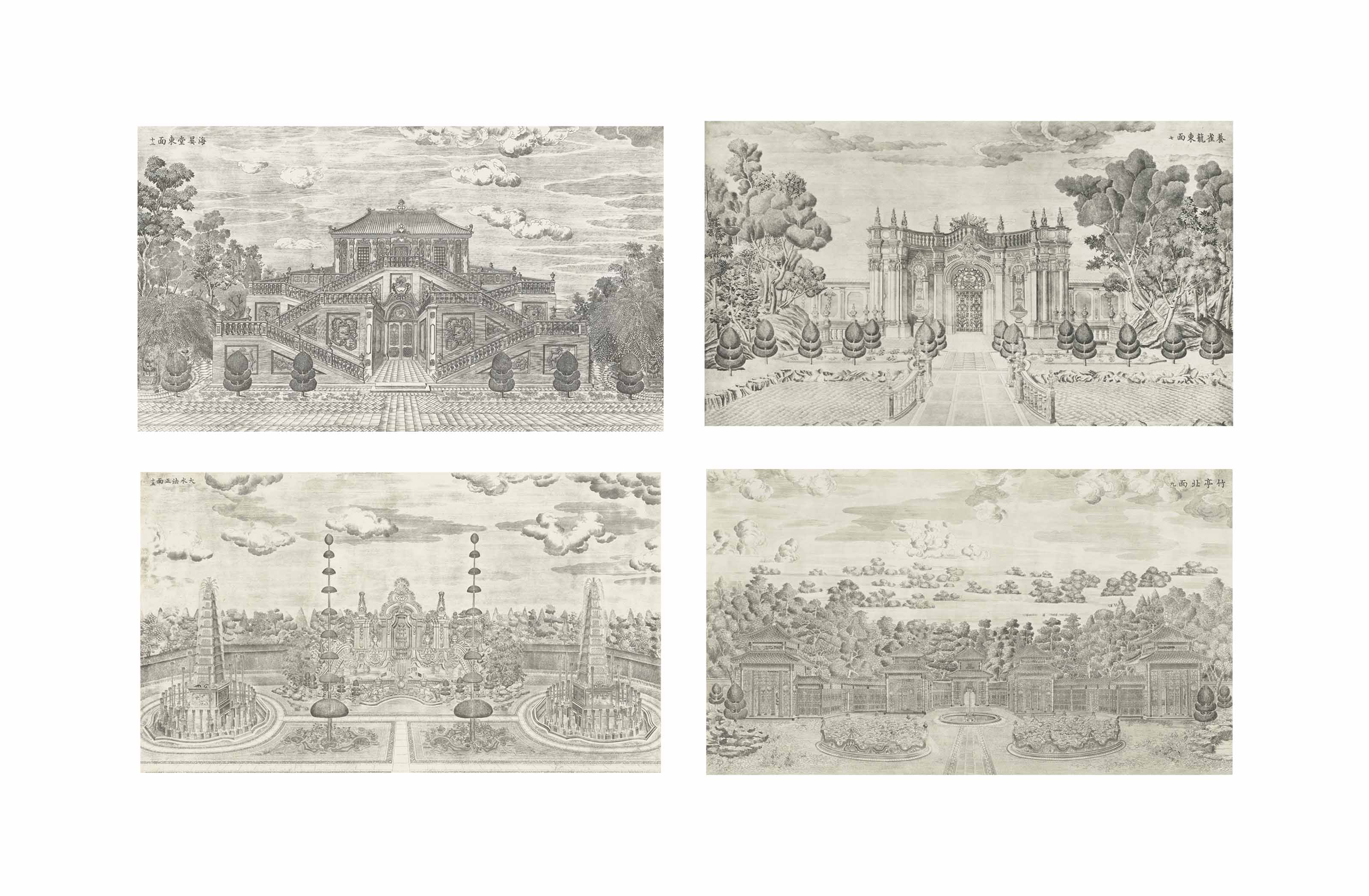 A  SET OF NINE ETCHINGS FROM P