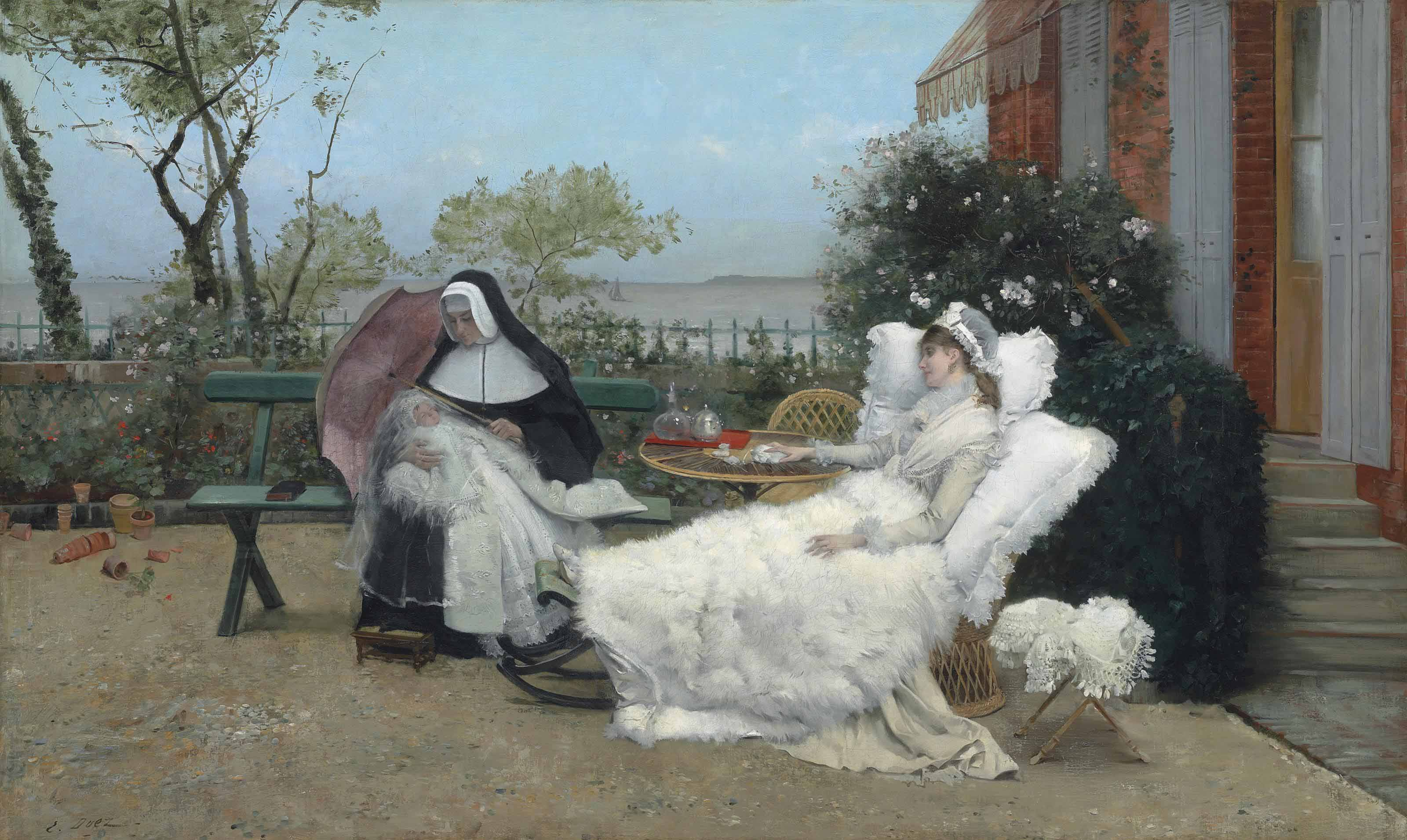 Resting on the terrace, Villerville