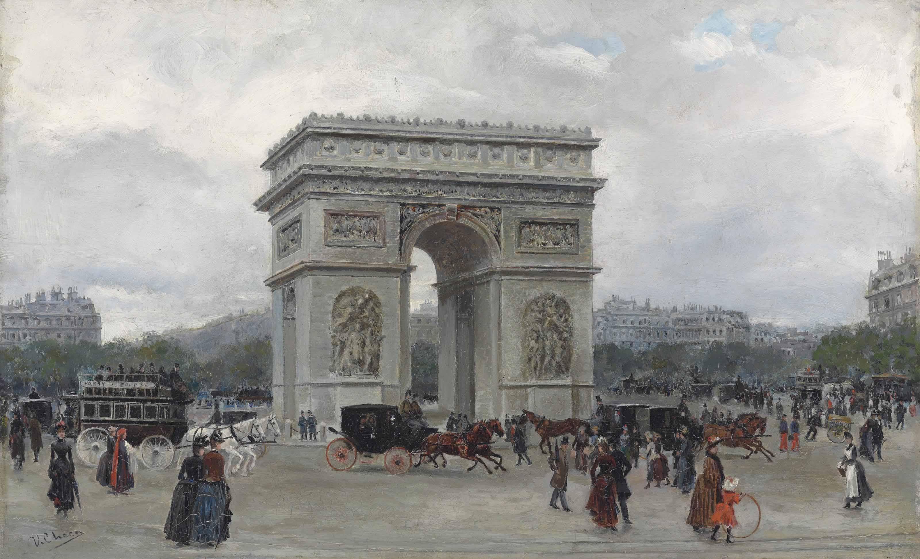 The Arc the Triomphe, Paris