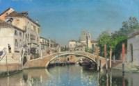 A Venetian canal with gondolas, Santa Maria Della Salute beyond