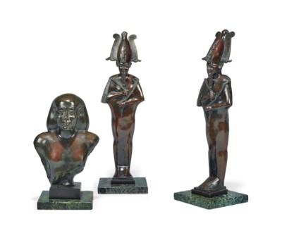 A GARNITURE OF REGENCY EGYPTIA