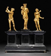 A GILT-BRONZE MODEL OF THE FLAGELLATION