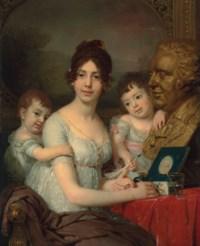 Portrait of Countess Liubov Il'inichna Kusheleva, née Bezborodko (1783-1809) with children Aleksandr (1800-1855) and Grigorii (1801-1855)