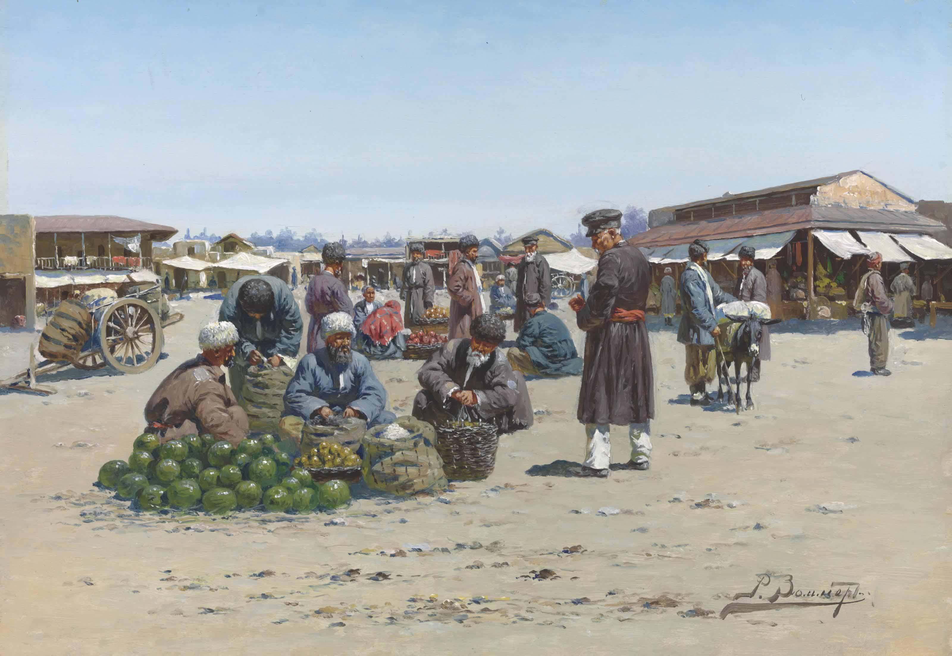 A bazaar in Dagestan