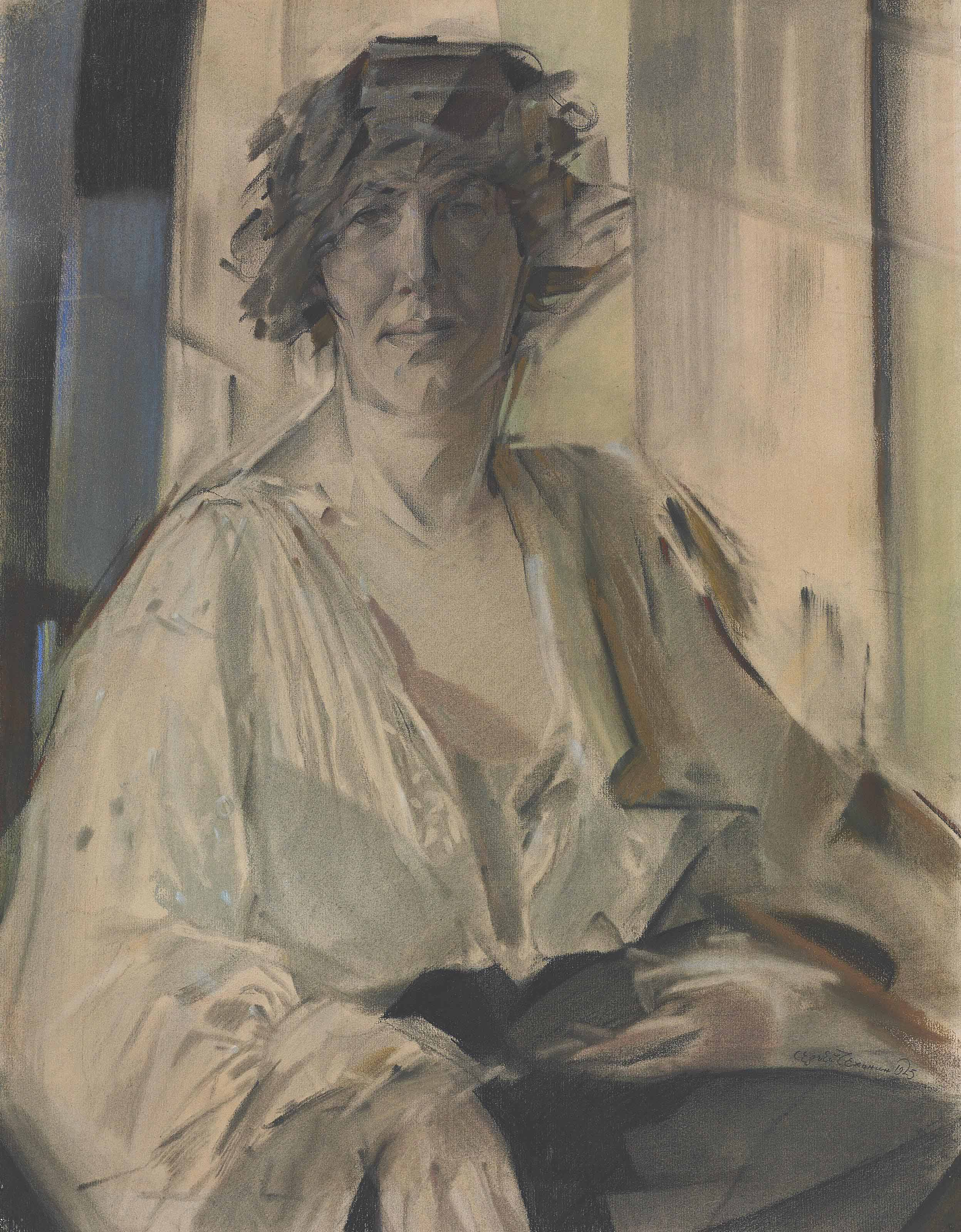 Portrait of the artist's wife, Lydia Vytchegjanine (1889-1960)