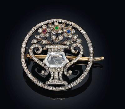 A DIAMOND, RUBY, DEMANTOID GAR