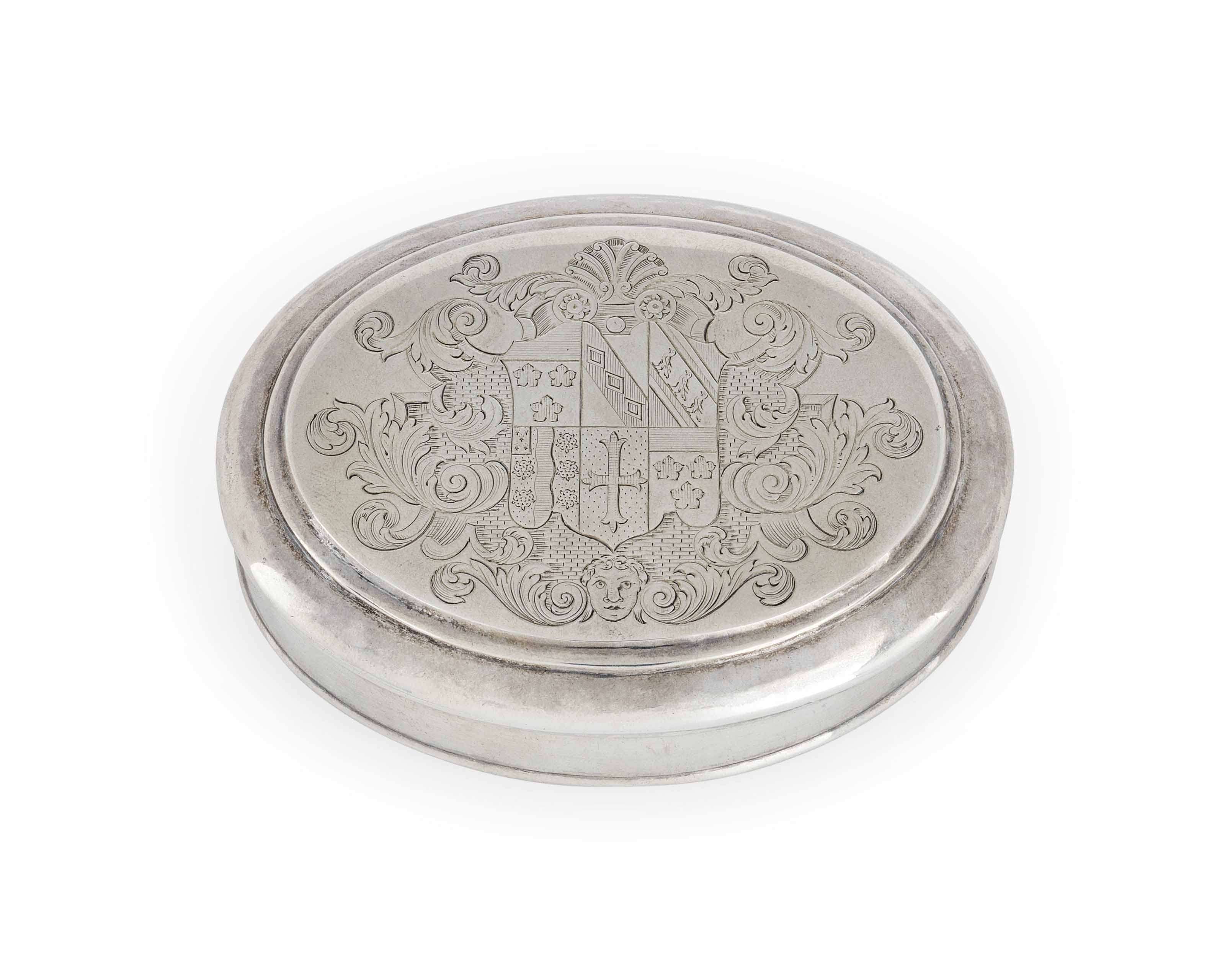A GEORGE II SILVER TOBACCO-BOX