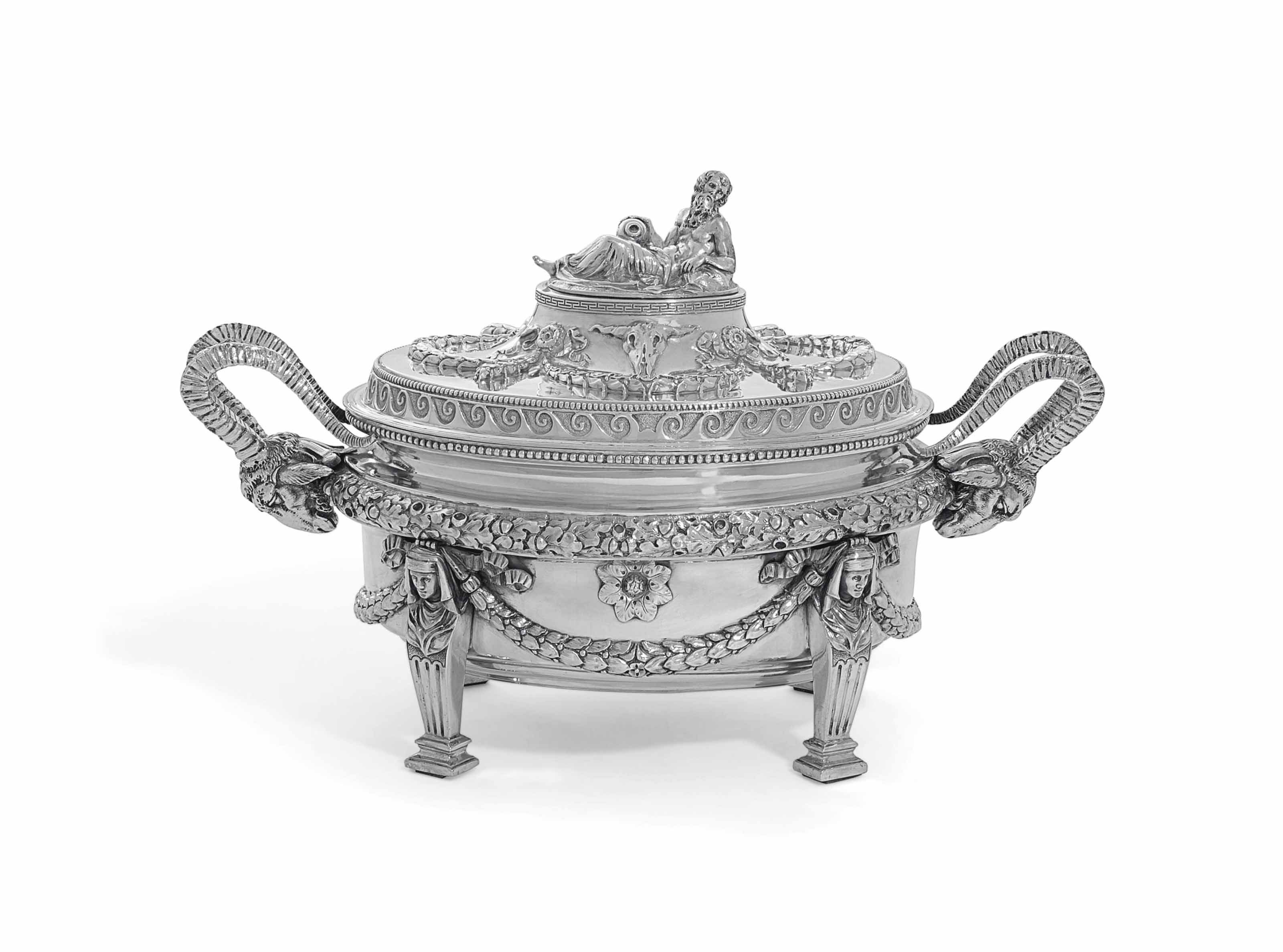 AN ITALIAN SOUP-TUREEN AND COVER