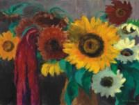 Sonnenblumen mit Fuchsschwanz
