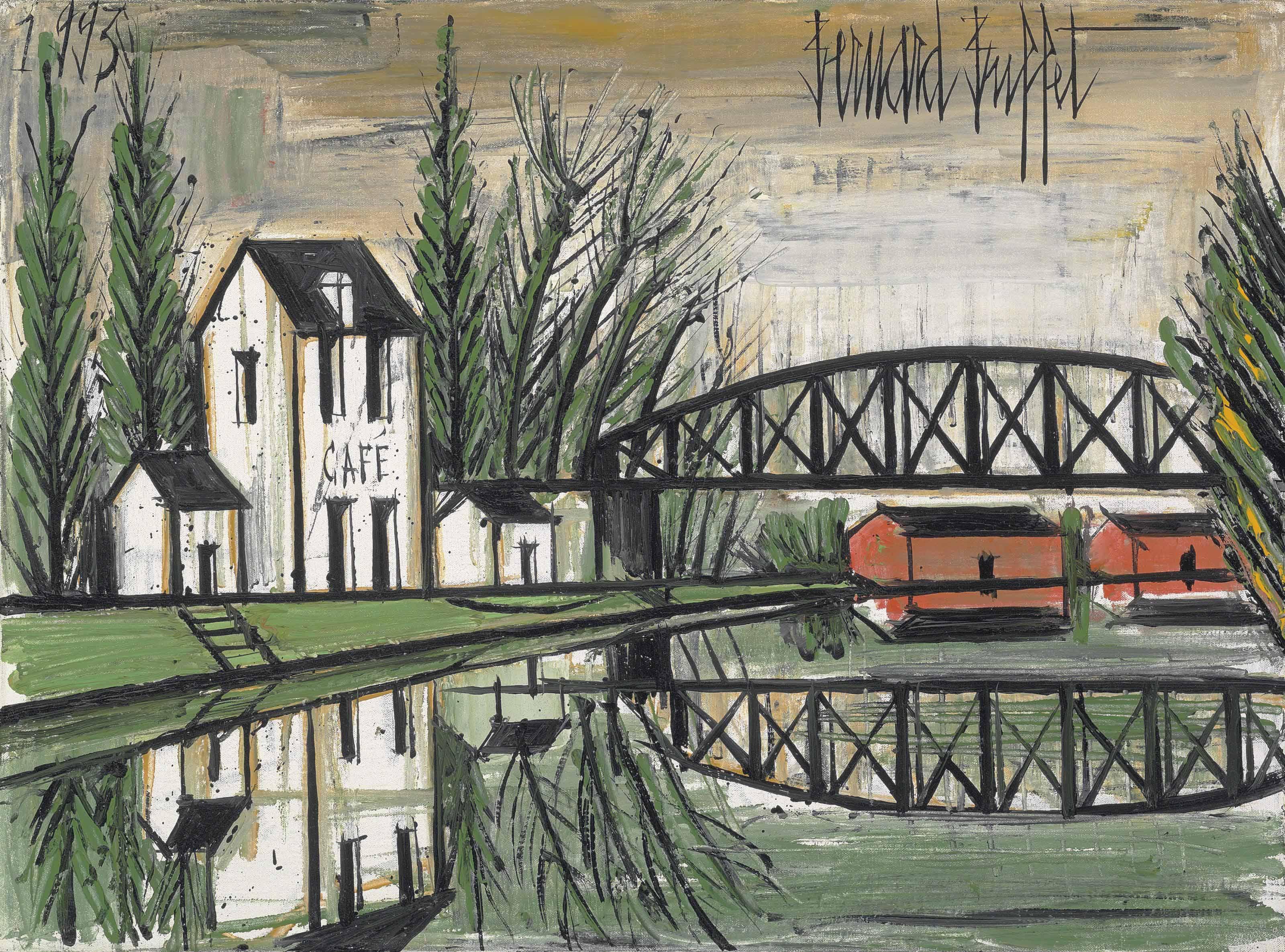 bernard buffet 1928 1999 le pont m tallique christie 39 s. Black Bedroom Furniture Sets. Home Design Ideas