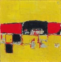 Paysage (Composition; Composition Rouge et Noir sur Fond Jaune or Paysage Rouge et Noir)