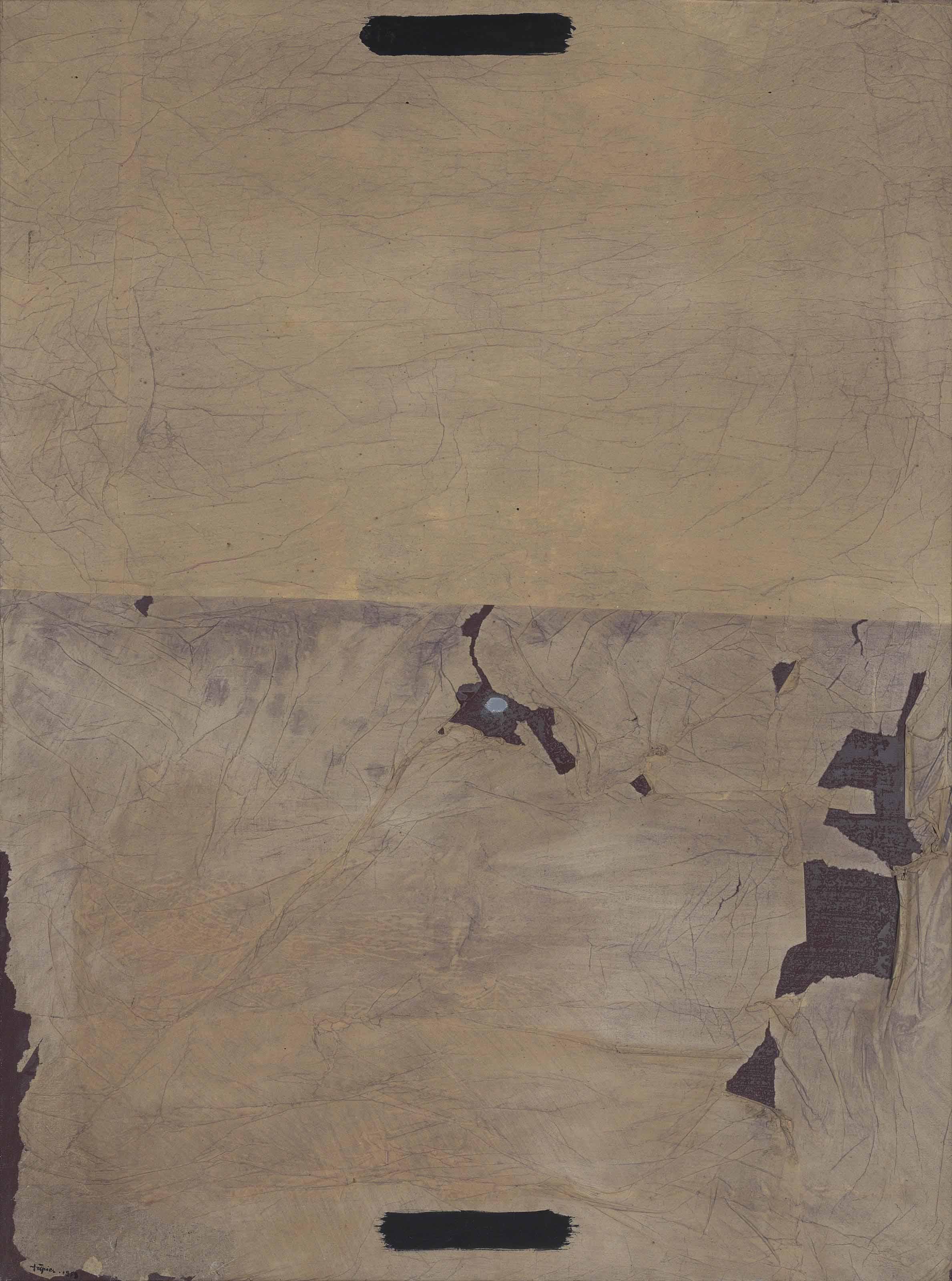 Papers esquinçats sobre tela (Torn Paper on Canvas)