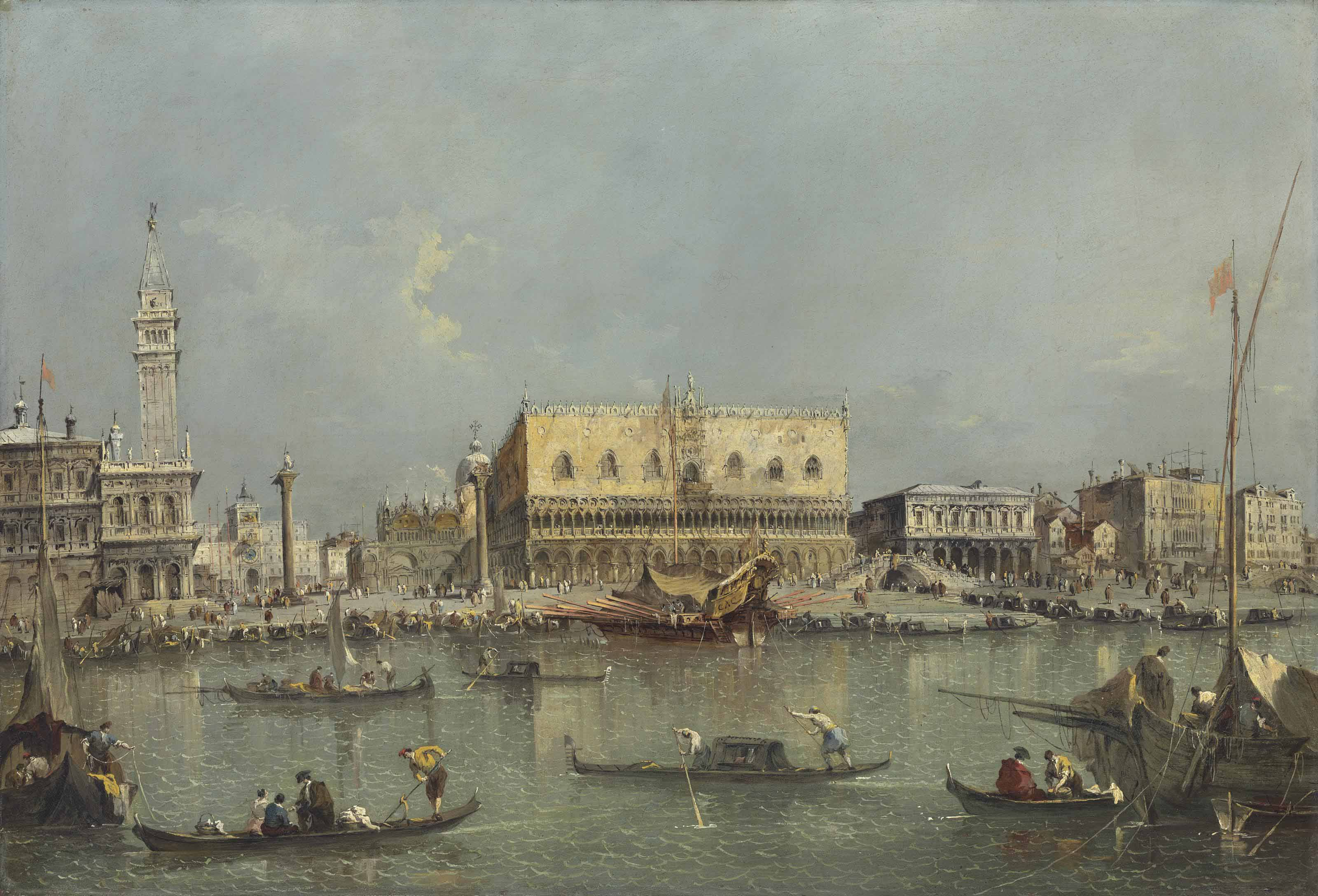 Venice, the Bacino di San Marco, with the Piazzetta and the Doge's Palace