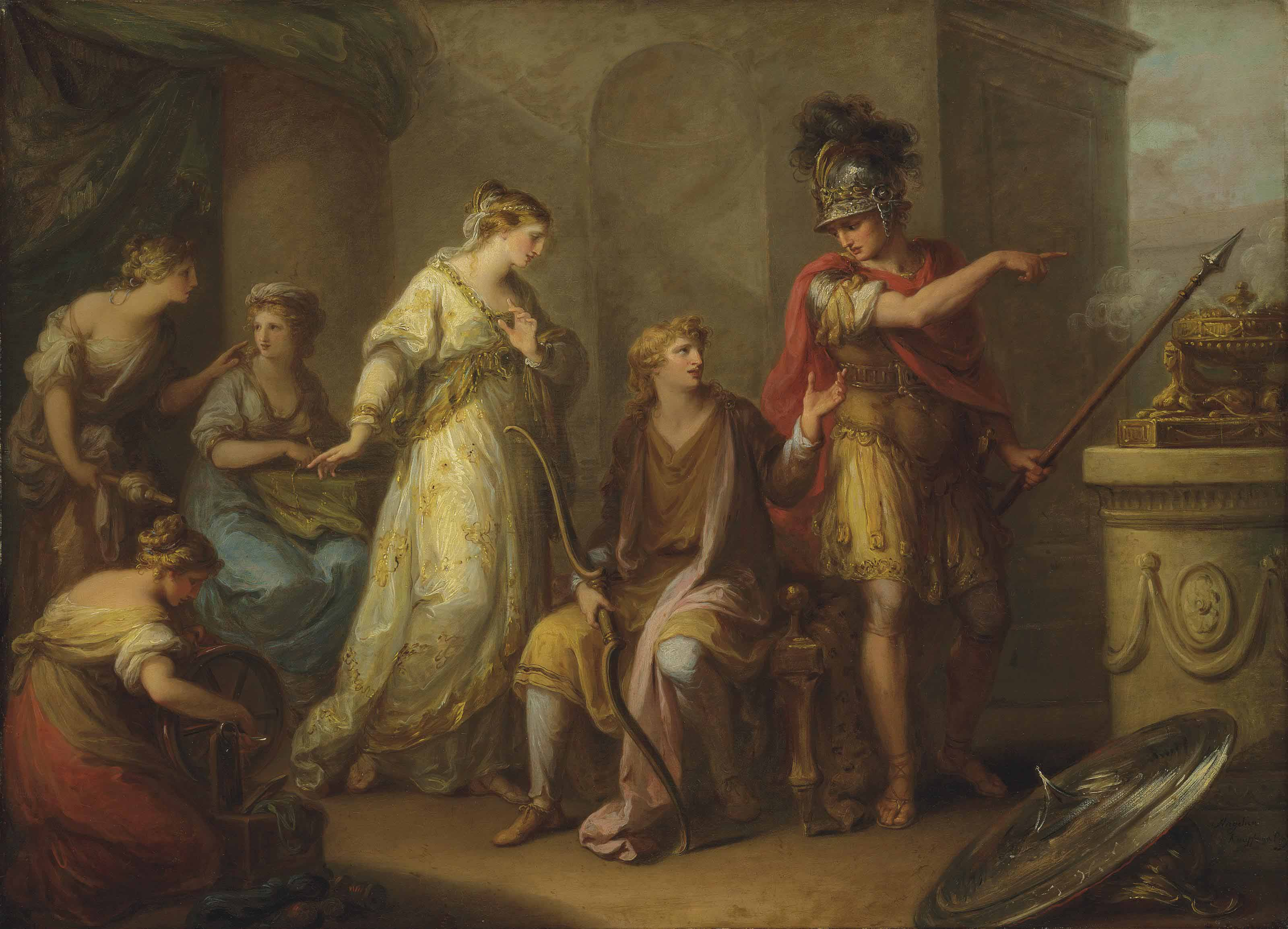 Hector upbraiding Paris for his retreat from battle