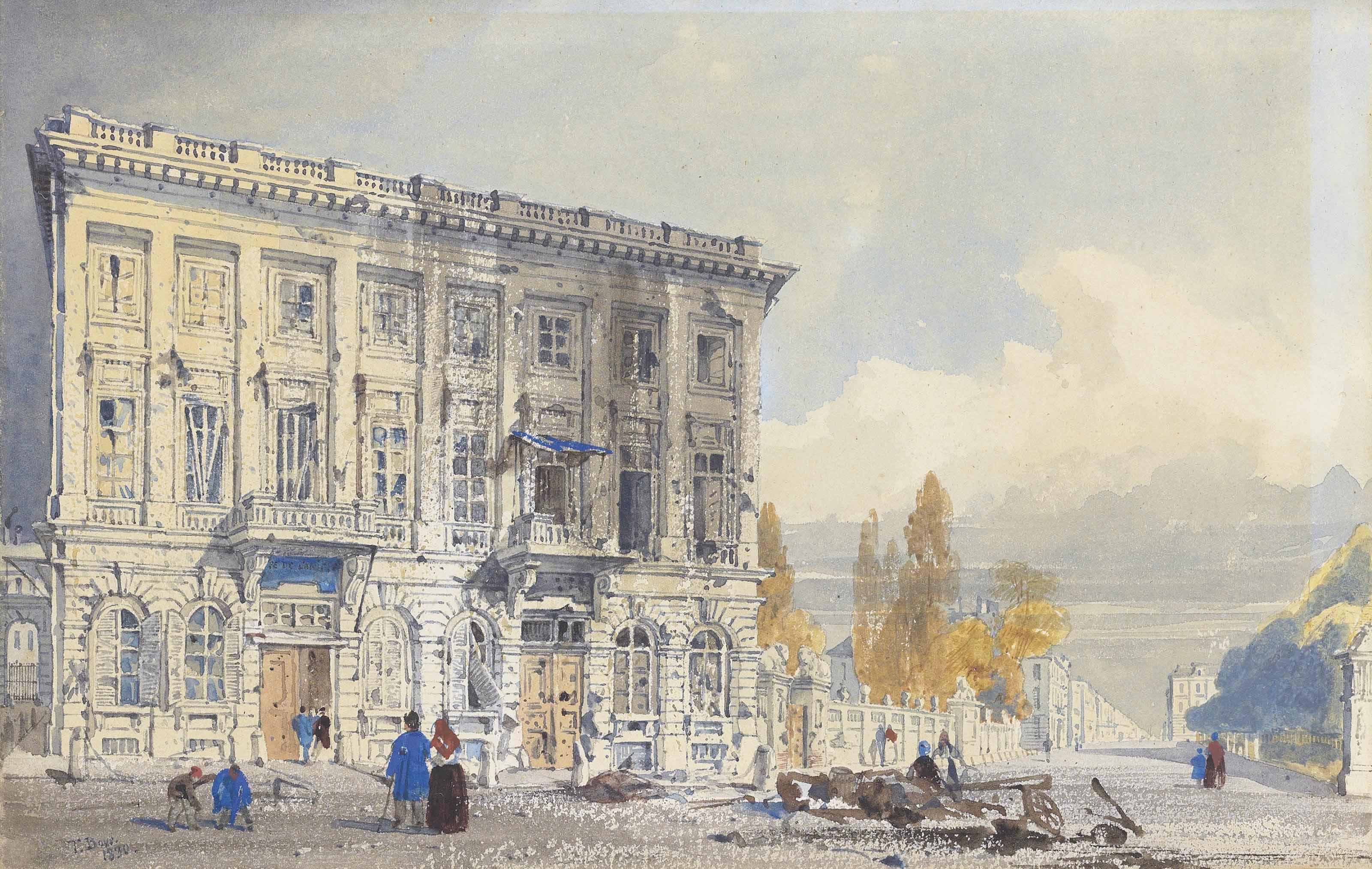 The Café de l'Amitié and l'Ancient Hôtel of Prince Frederick, Brussels